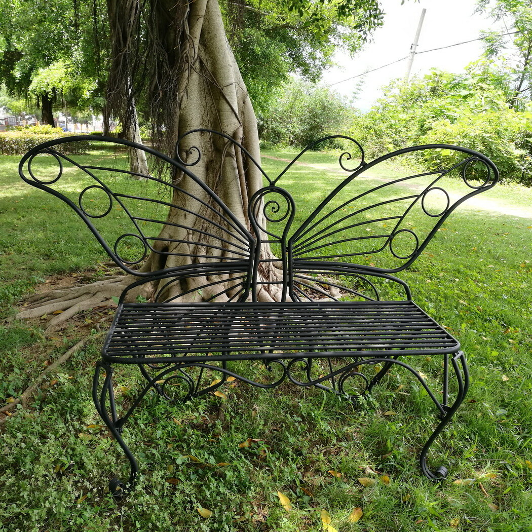 Butterfly Metal Garden Bench For Caryn Colored Butterflies Metal Garden Benches (View 3 of 25)