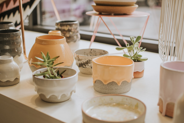 Buy Ceramic Pots Online – Abana Homes Throughout Carmon Ceramic Garden Tool (View 18 of 25)