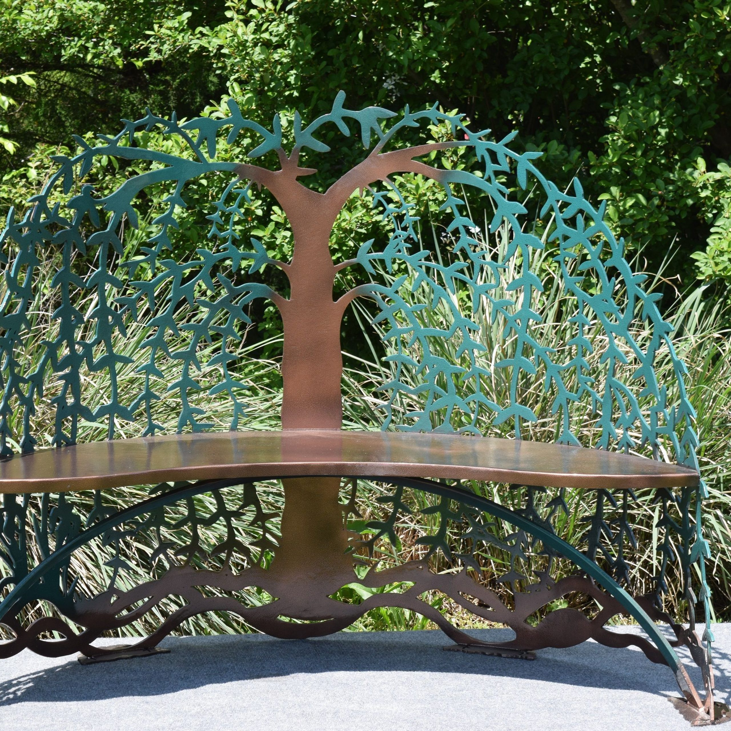 Buy Custom Made Tree Of Life Garden Steel Metal Bench, Made With Tree Of Life Iron Garden Benches (View 4 of 25)