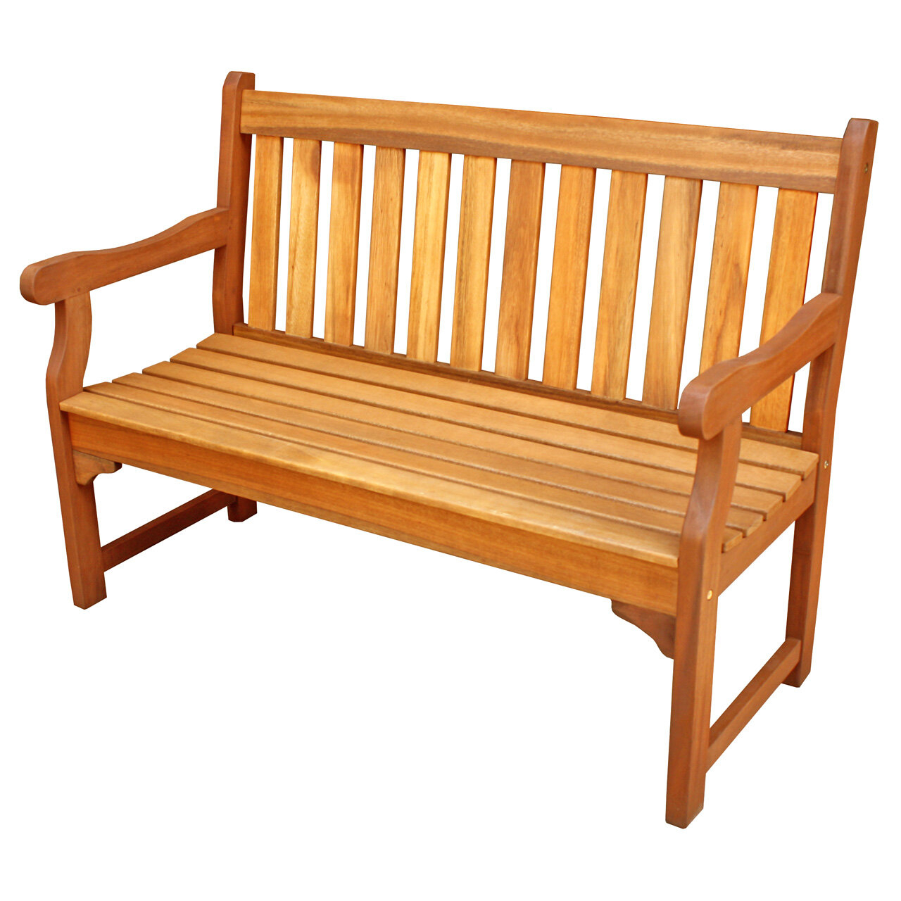 Cadsden Hardwood Garden Bench For Alfon Wood Garden Benches (View 19 of 25)