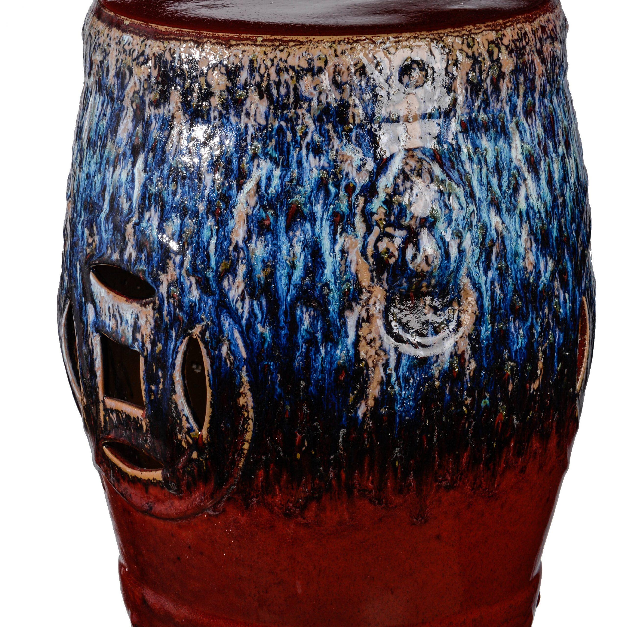 Cates Ceramic Garden Stool With Regard To Wilde Poppies Ceramic Garden Stools (View 9 of 25)