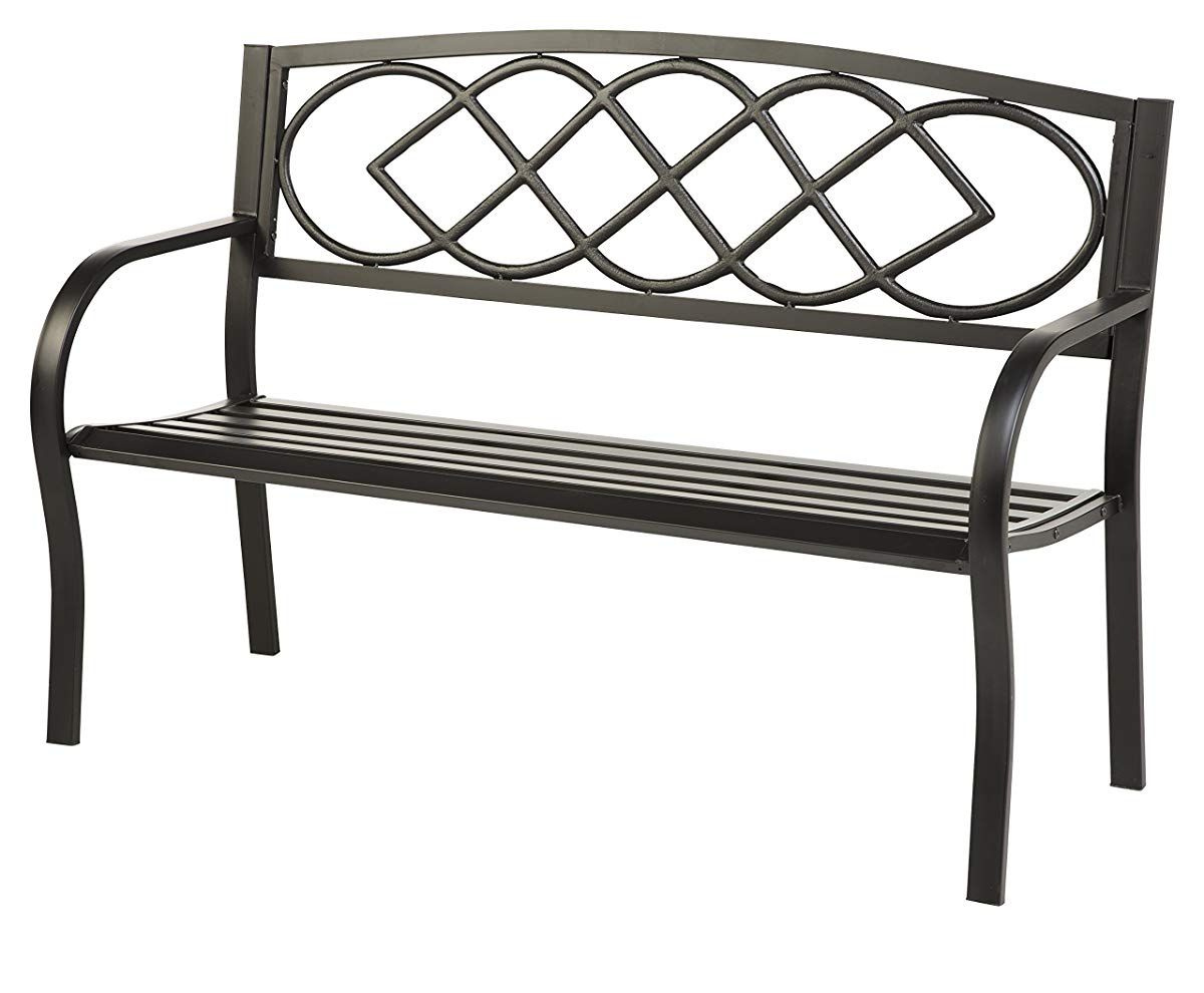 Celtic Knot Patio Garden Bench Park Yard Outdoor Furniture Intended For Celtic Knot Iron Garden Benches (Photo 9 of 25)