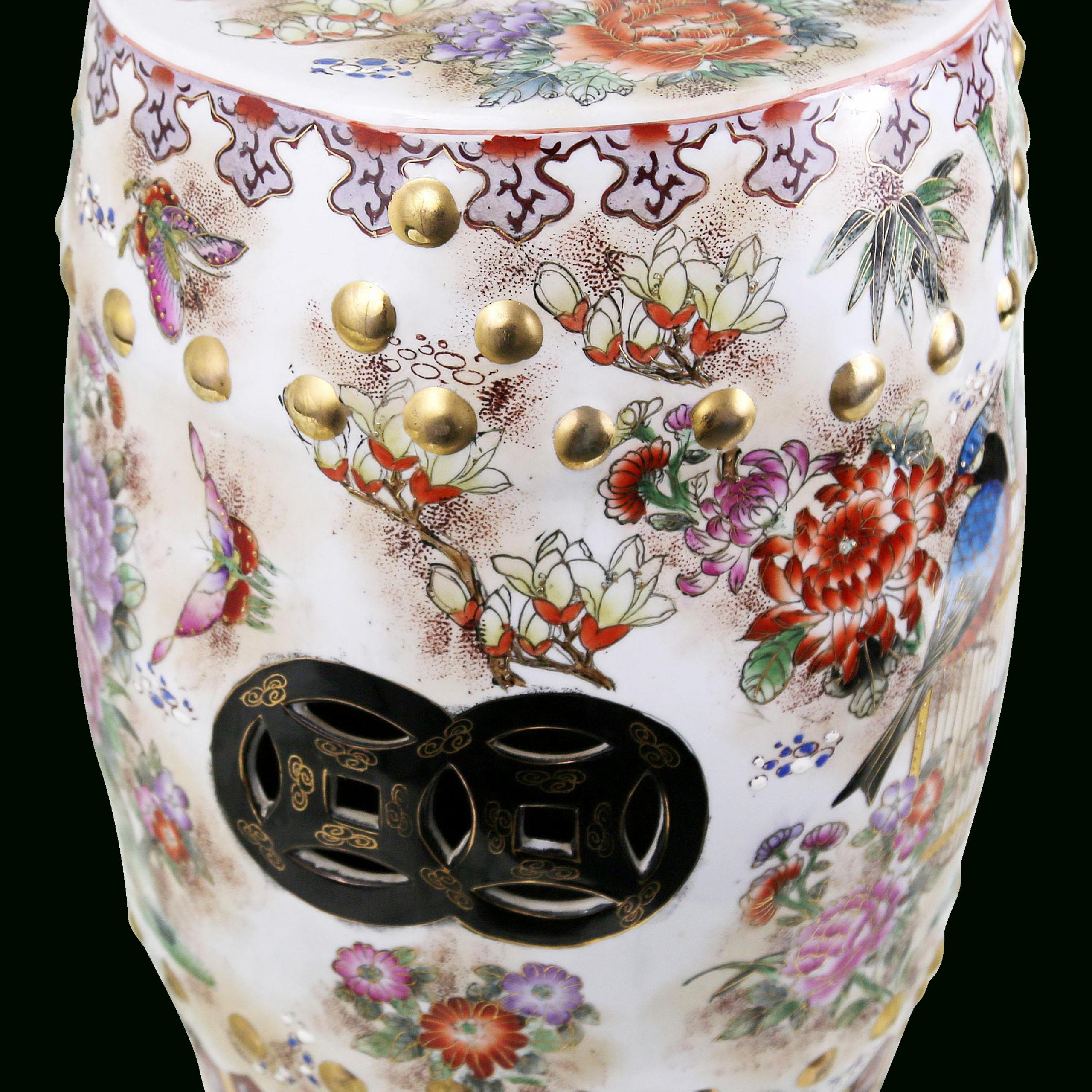 Ceramic Garden Stolls Regarding Tillia Ceramic Garden Stools (View 12 of 25)
