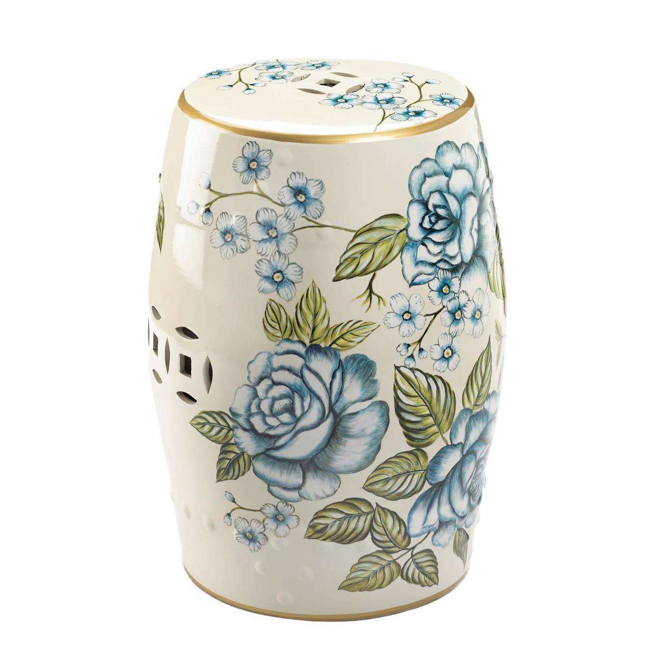Ceramic Garden Stolls Regarding Tillia Ceramic Garden Stools (View 16 of 25)