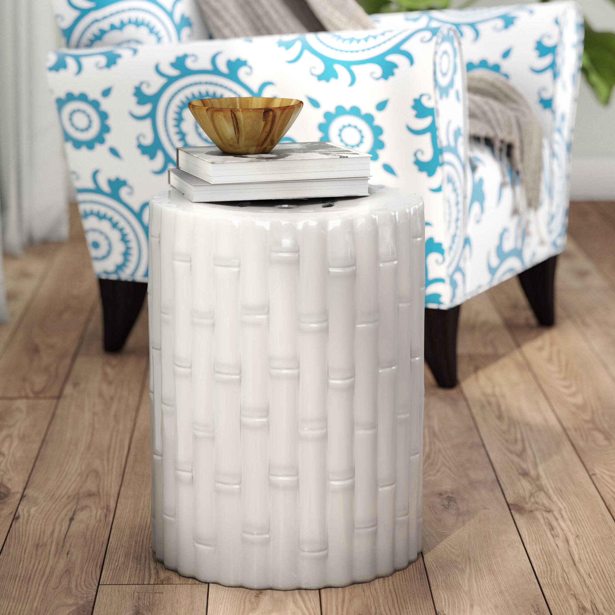Ceramic White Garden Stools You'Ll Love In 2020 | Wayfair For Middlet Owl Ceramic Garden Stools (View 13 of 25)