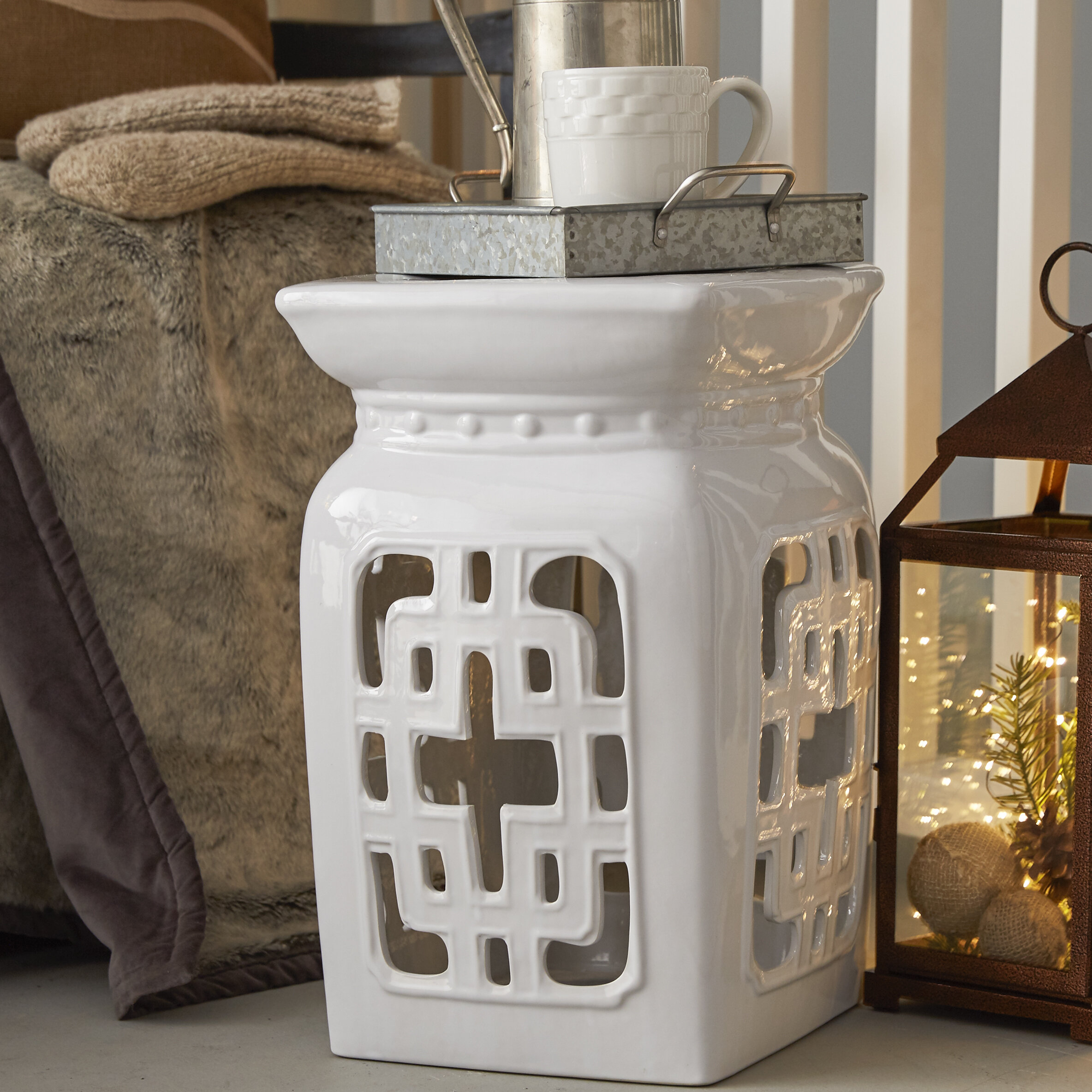 Ceramic White Garden Stools You'Ll Love In 2020 | Wayfair Pertaining To Middlet Owl Ceramic Garden Stools (View 10 of 25)