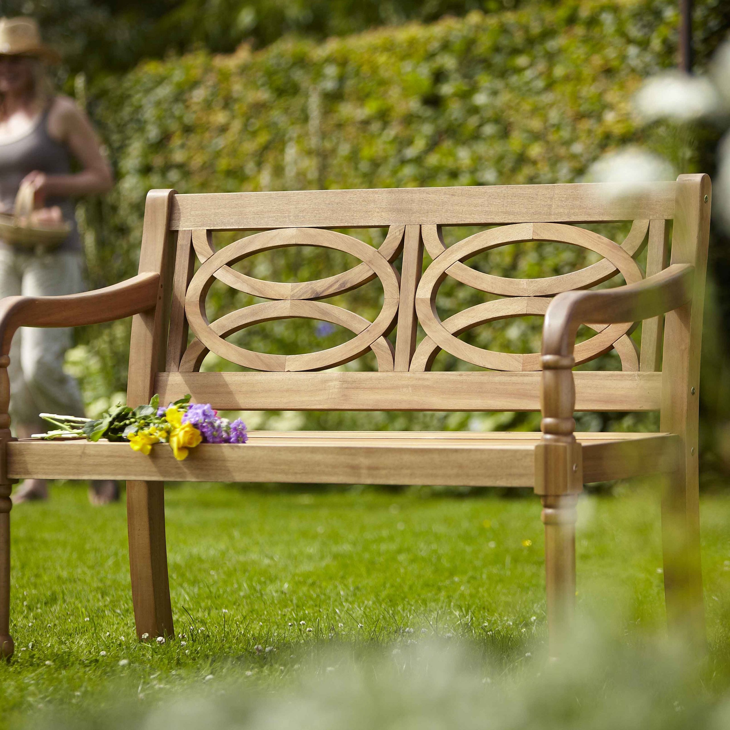 Cleobury 2 Seat Bench | Garden Benches For Sale, Wooden Intended For Amabel Patio Diamond Wooden Garden Benches (View 18 of 25)