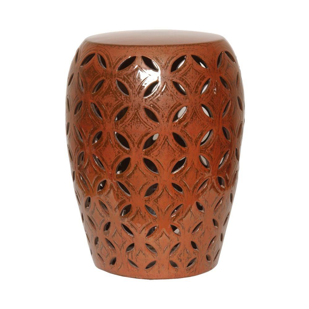 Copper Lattice Garden Stool – Seven Colonial | Ceramic Stool With Aloysius Ceramic Garden Stools (View 7 of 25)