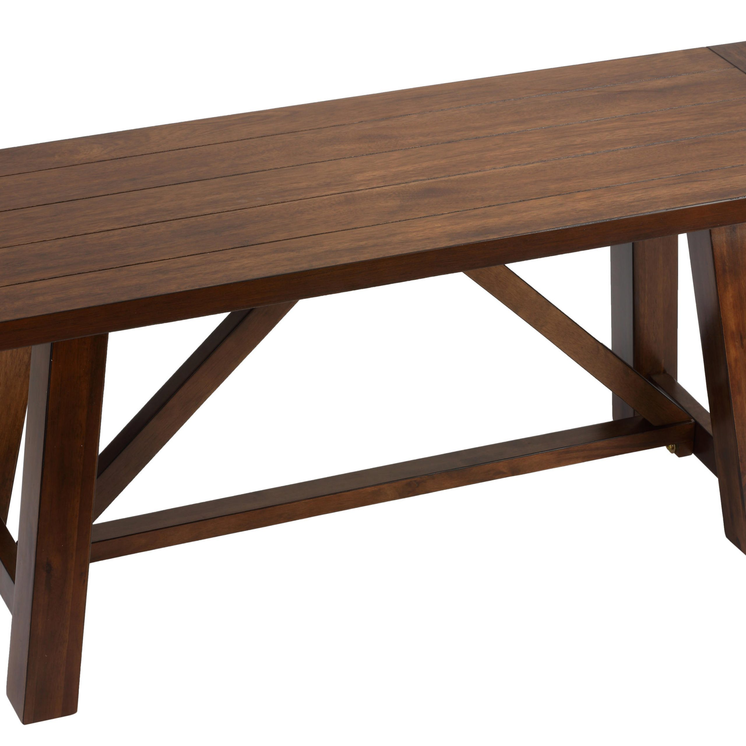 """Cortesi Home Birmingham Solid Wood Dining Bench In Walnut Finish 44"""" Wide – Walmart With Regard To Walnut Solid Wood Garden Benches (View 8 of 25)"""