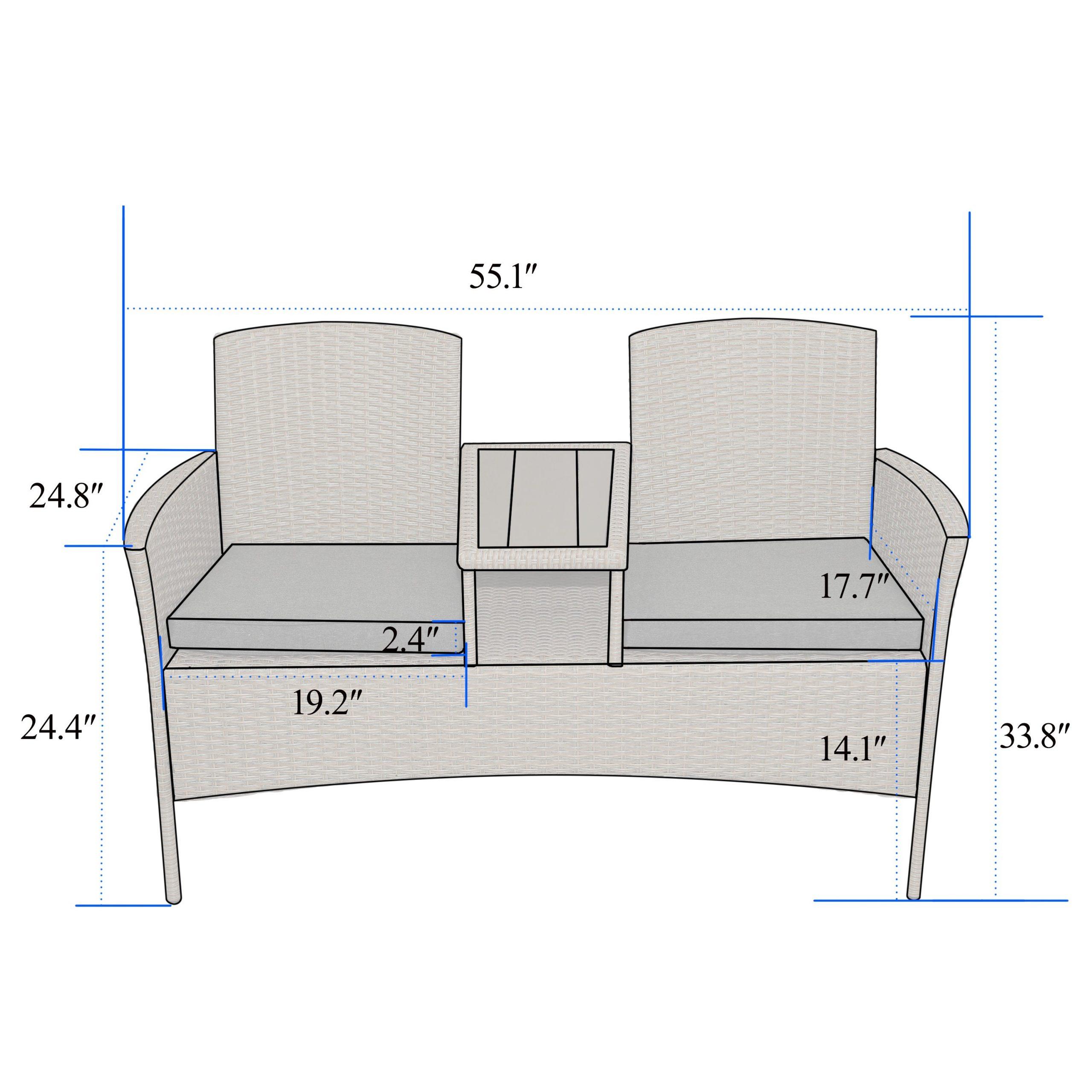 Corvus Armitage Outdoor Wicker Tete A Tete Bench With Lublin Wicker Tete A Tete Benches (View 17 of 25)