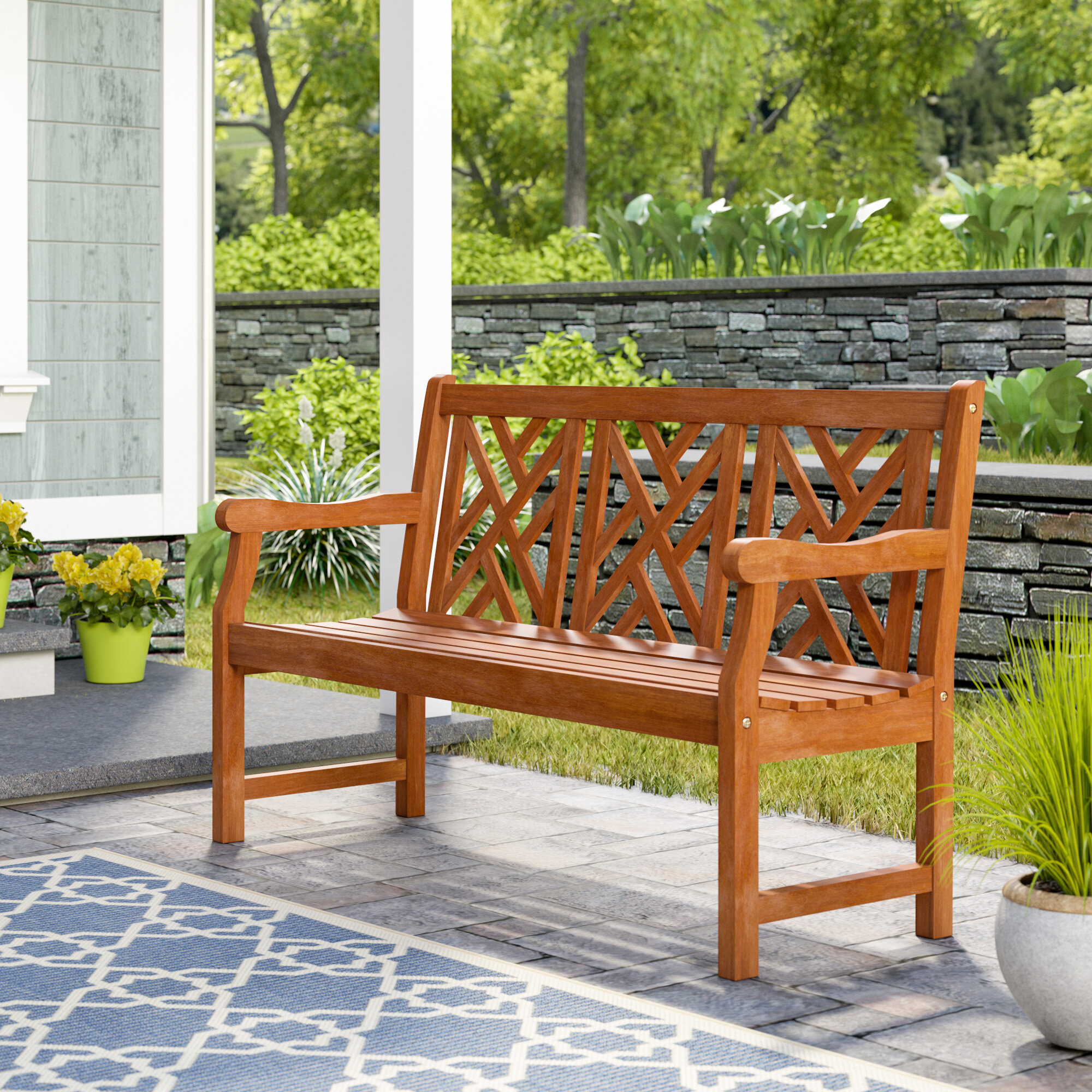 Curved Outdoor Outdoor Benches You'Ll Love In 2020 | Wayfair With Regard To Aranita Tree Of Life Iron Garden Benches (View 15 of 25)