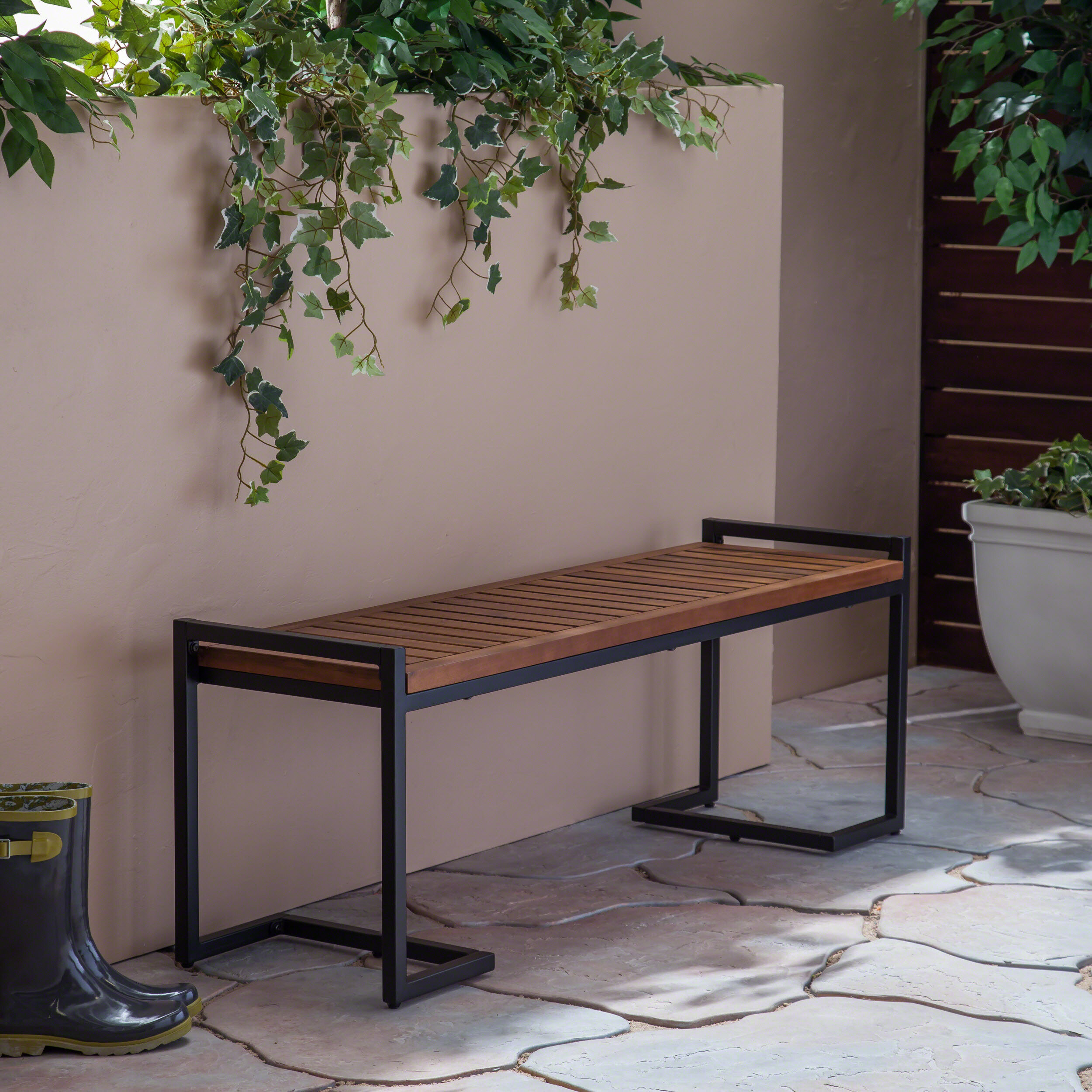 Cushionless Outdoor Benches You'Ll Love In 2020 | Wayfair For Aranita Tree Of Life Iron Garden Benches (View 22 of 25)