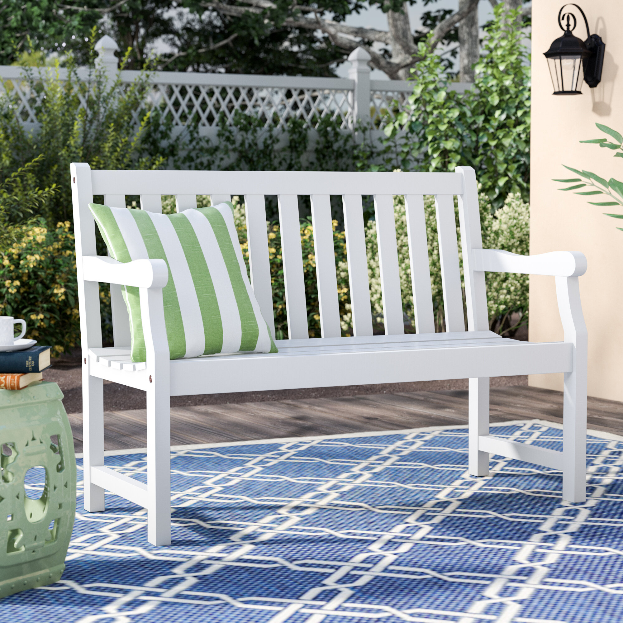 Cushionless Outdoor Benches You'Ll Love In 2020 | Wayfair With Regard To Aranita Tree Of Life Iron Garden Benches (View 14 of 25)