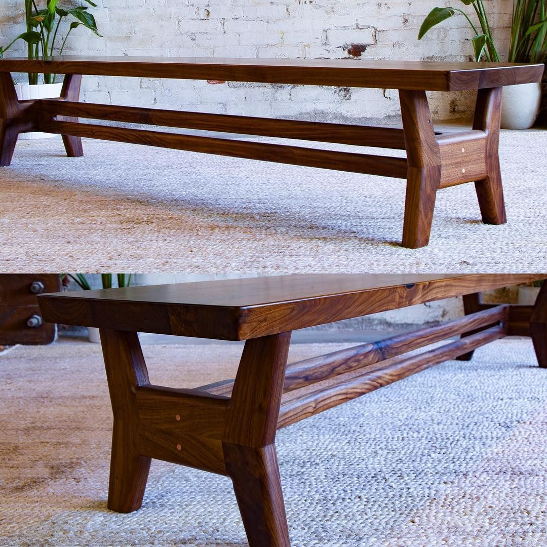 Custom Walnut Bench For A Customer Who Purchased The Claro Inside Walnut Solid Wood Garden Benches (View 6 of 25)