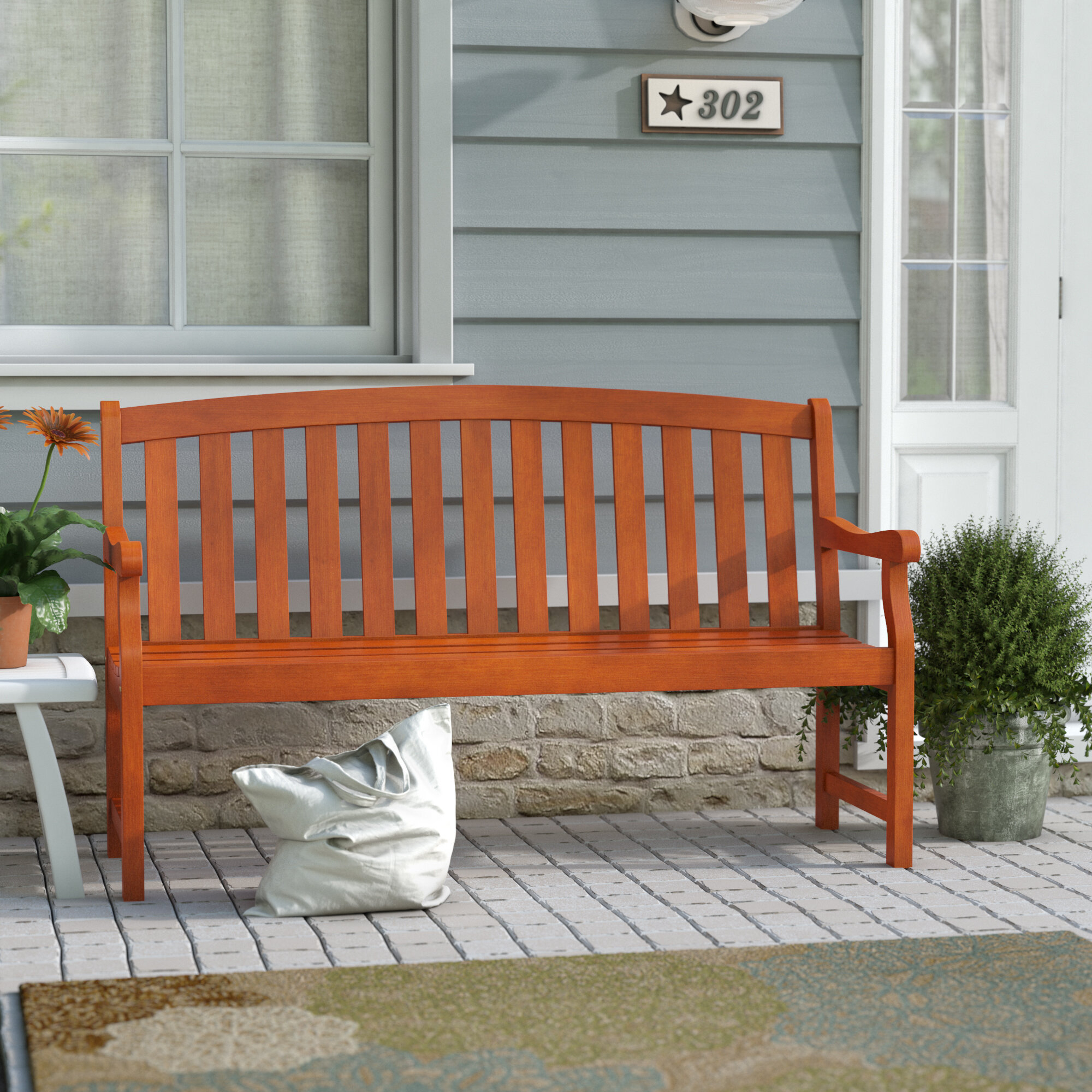 Defalco Garden Bench With Amabel Wooden Garden Benches (View 24 of 25)