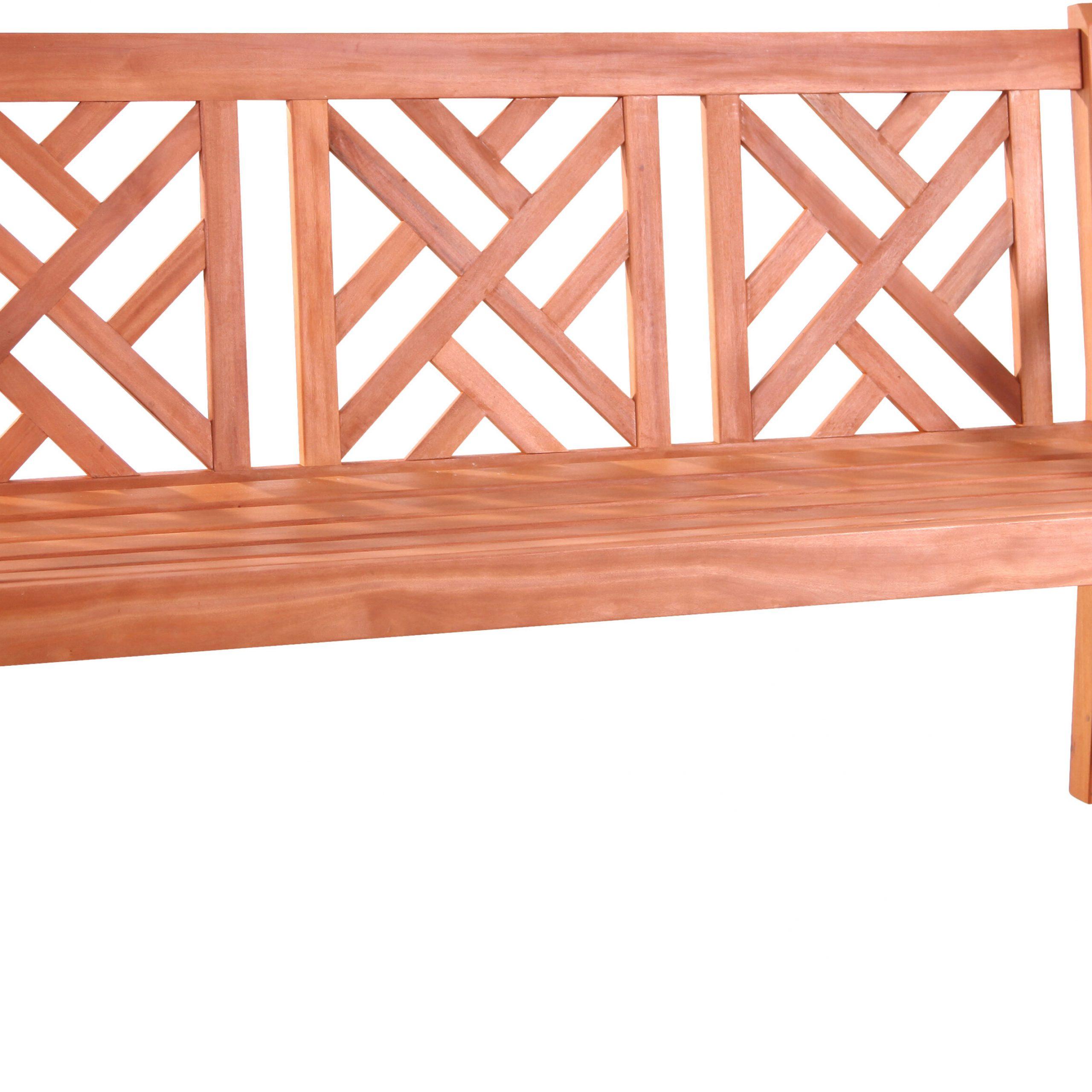 Delicia Outdoor Eucalyptus Garden Bench With Regard To Elsner Acacia Garden Benches (View 8 of 25)