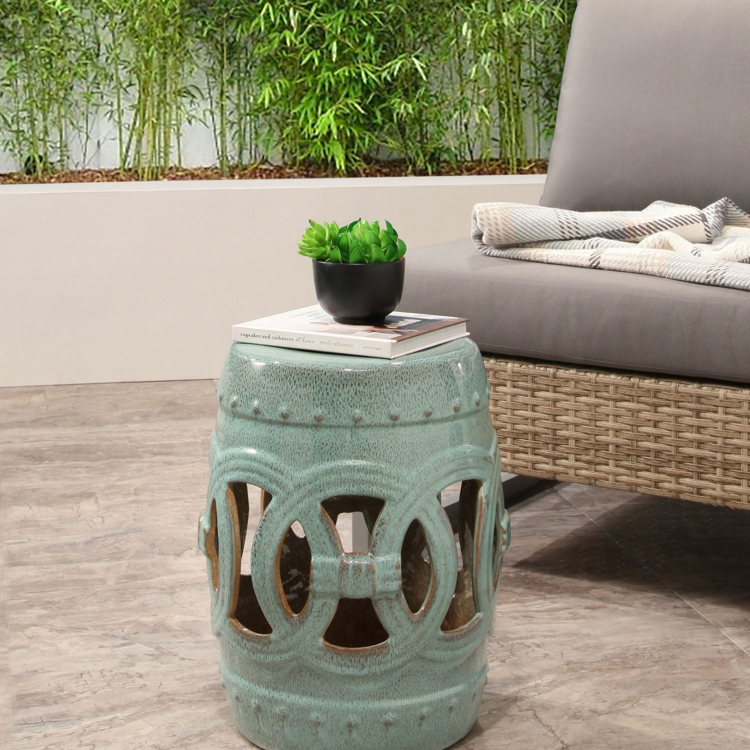 Devon And Claire Monaco Ceramic Garden Stool, Multiple Intended For Maci Tropical Birds Garden Stools (View 14 of 25)