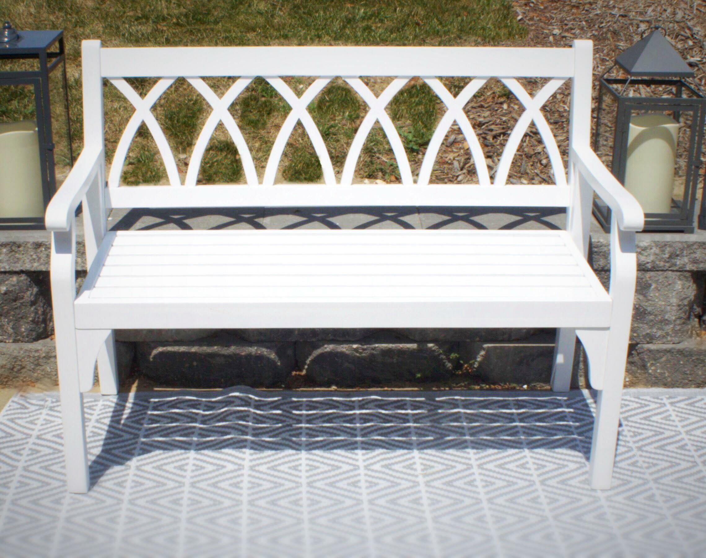 Dolores Elegant Outdoor Wooden Garden Bench With Amabel Patio Diamond Wooden Garden Benches (View 7 of 25)