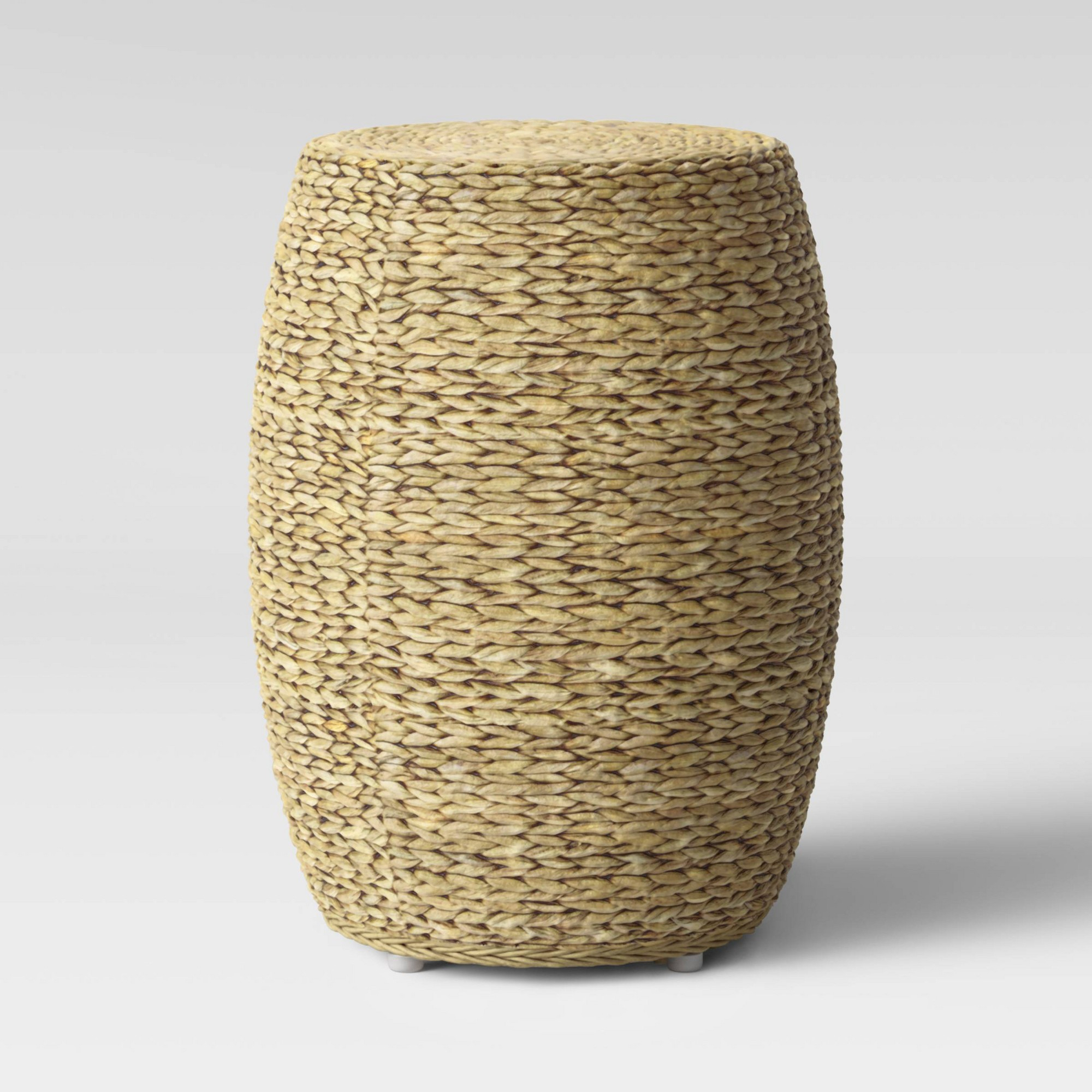 Durham Round Woven Accent Table Natural Brown – Threshold – Target With Kelston Ceramic Garden Stools (View 16 of 25)