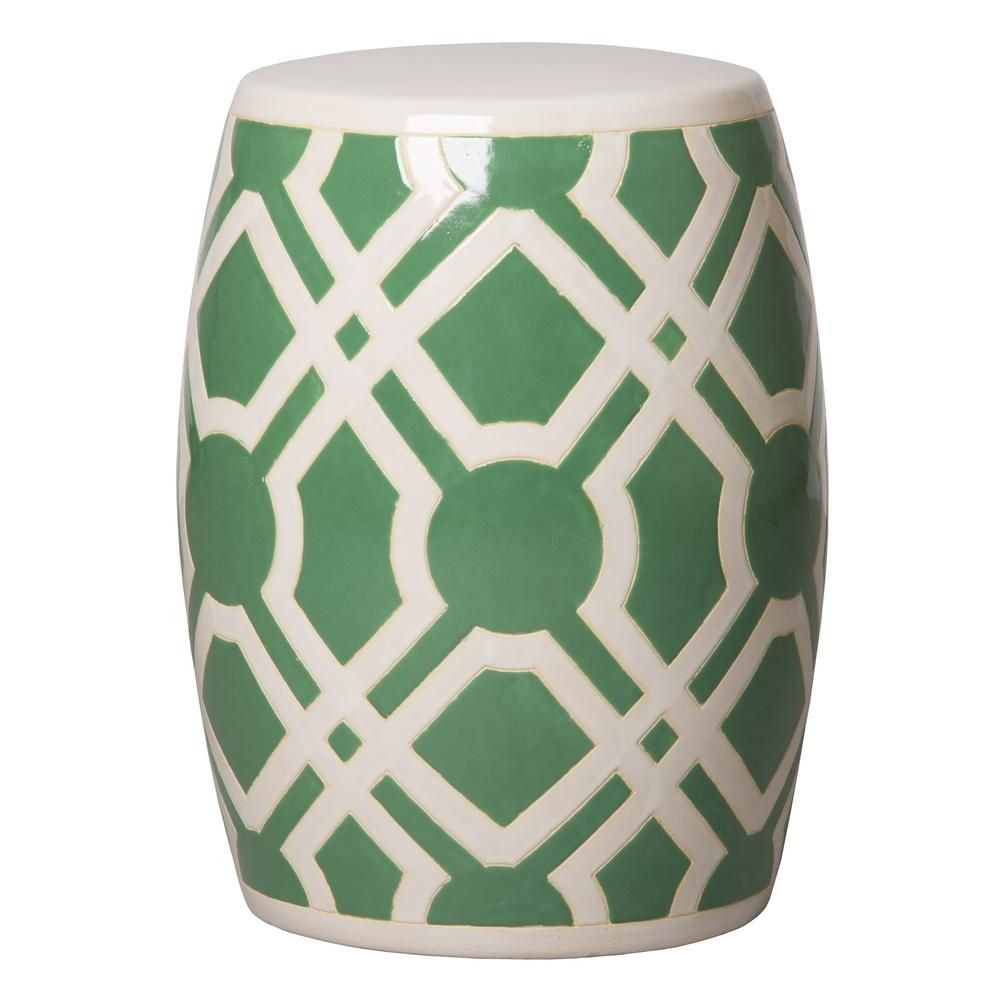 Emissary Labyrinth White Ceramic Garden Stool 12795Wt – The Regarding Maci Tropical Birds Garden Stools (View 11 of 25)