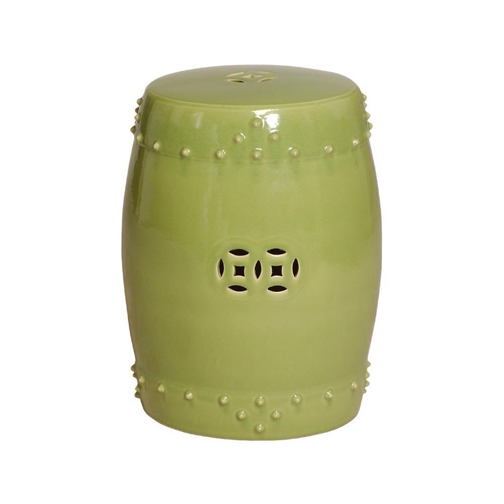 Emissary Lime Drum Ceramic Garden Stool 1254Lm – The Home For Engelhardt Ceramic Garden Stools (View 2 of 25)