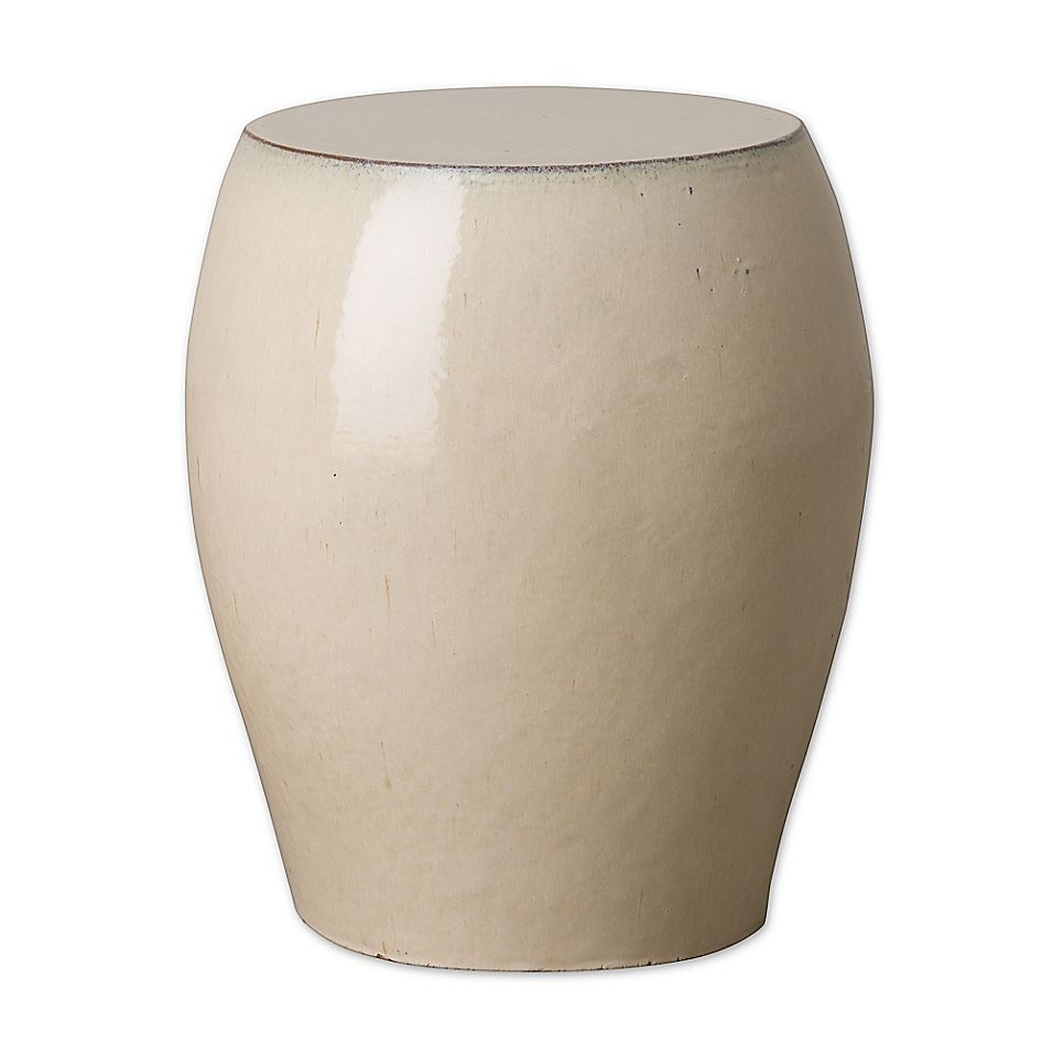 Emissary Seiji Ceramic Garden Stool In Cream | Ceramic Stool With Jadiel Ceramic Garden Stools (View 10 of 25)