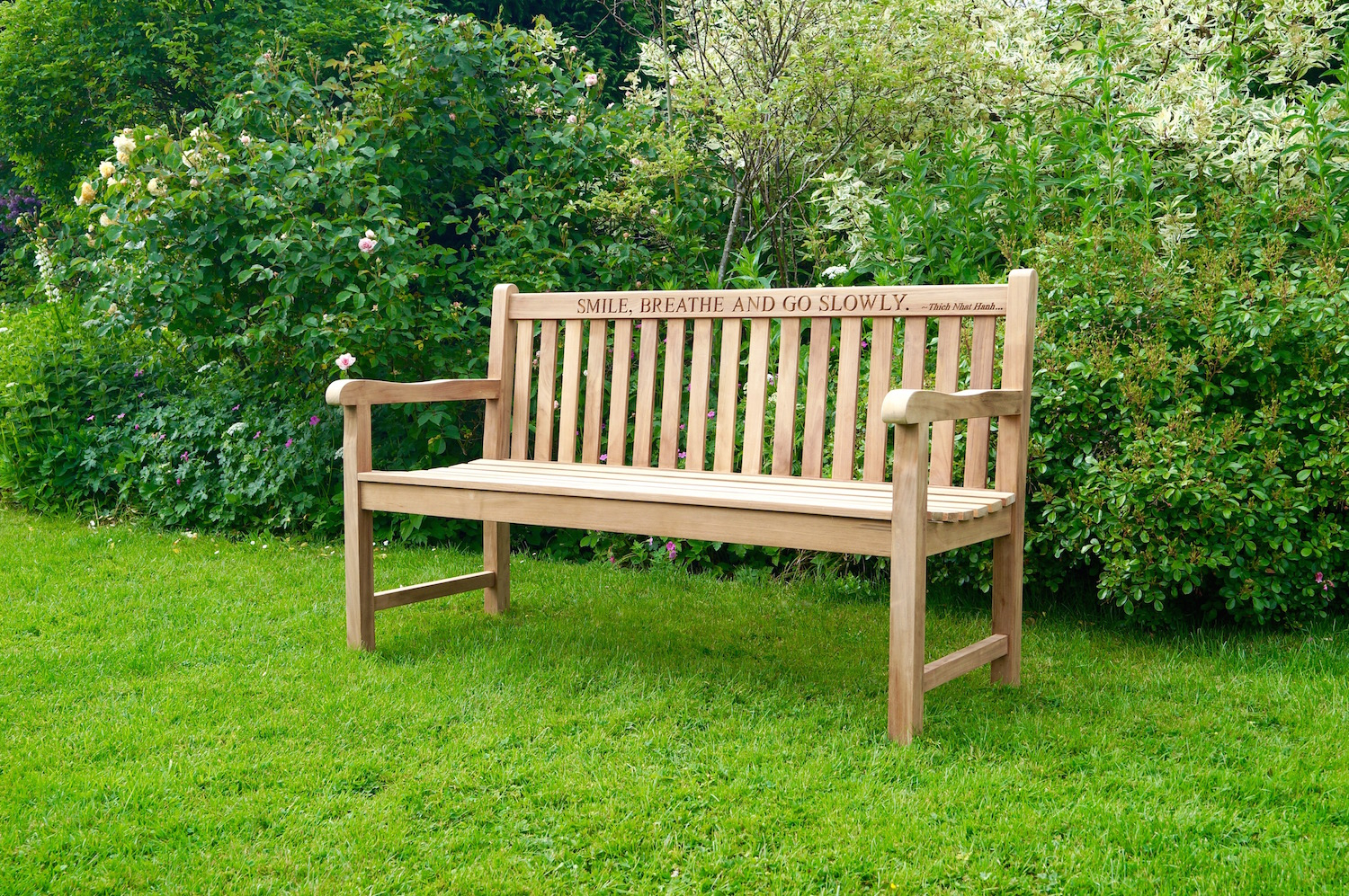 Engraved Wooden Garden Bench In Manchester Solid Wood Garden Benches (View 8 of 25)
