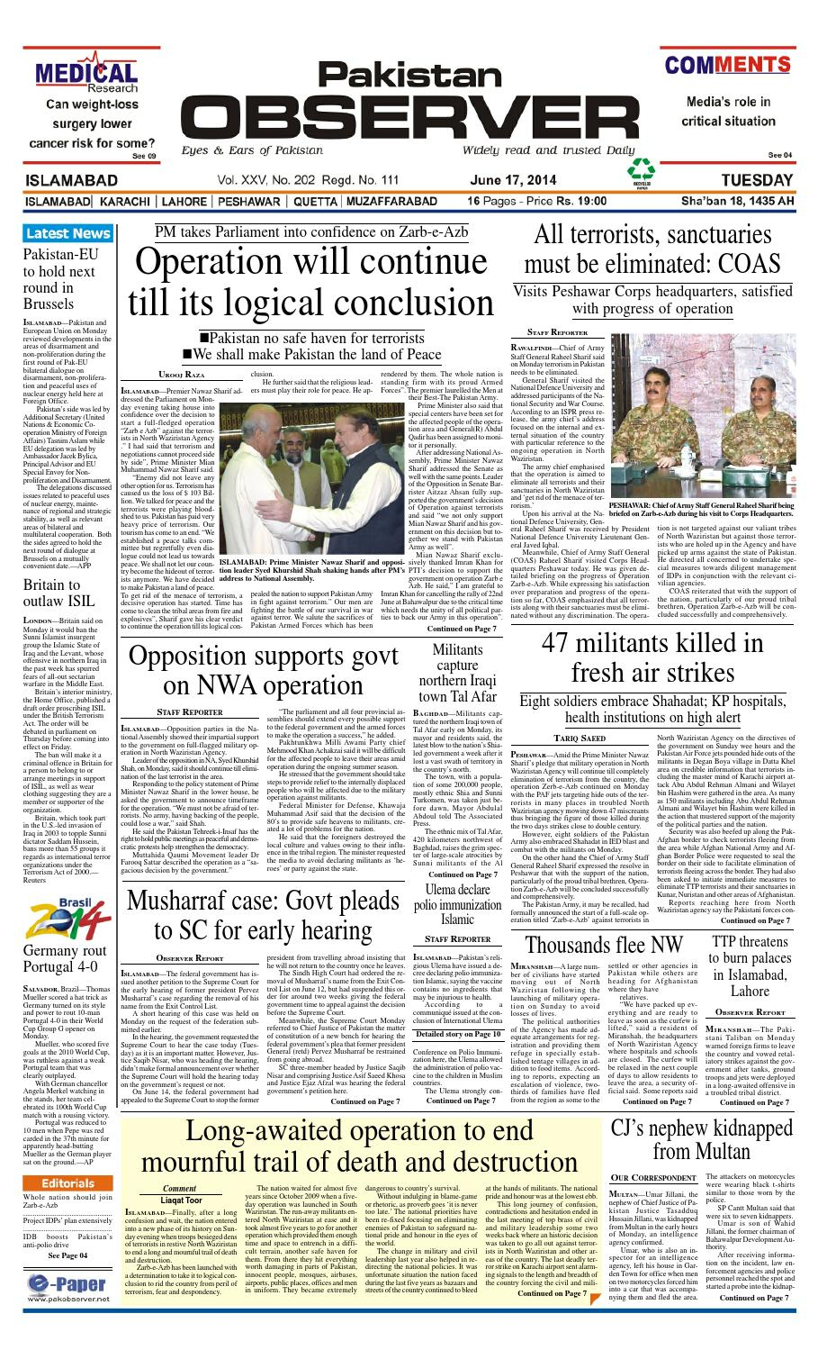 Ep17June2014Pakistan Observer – Issuu With Sibbi Glider Benches (View 17 of 25)
