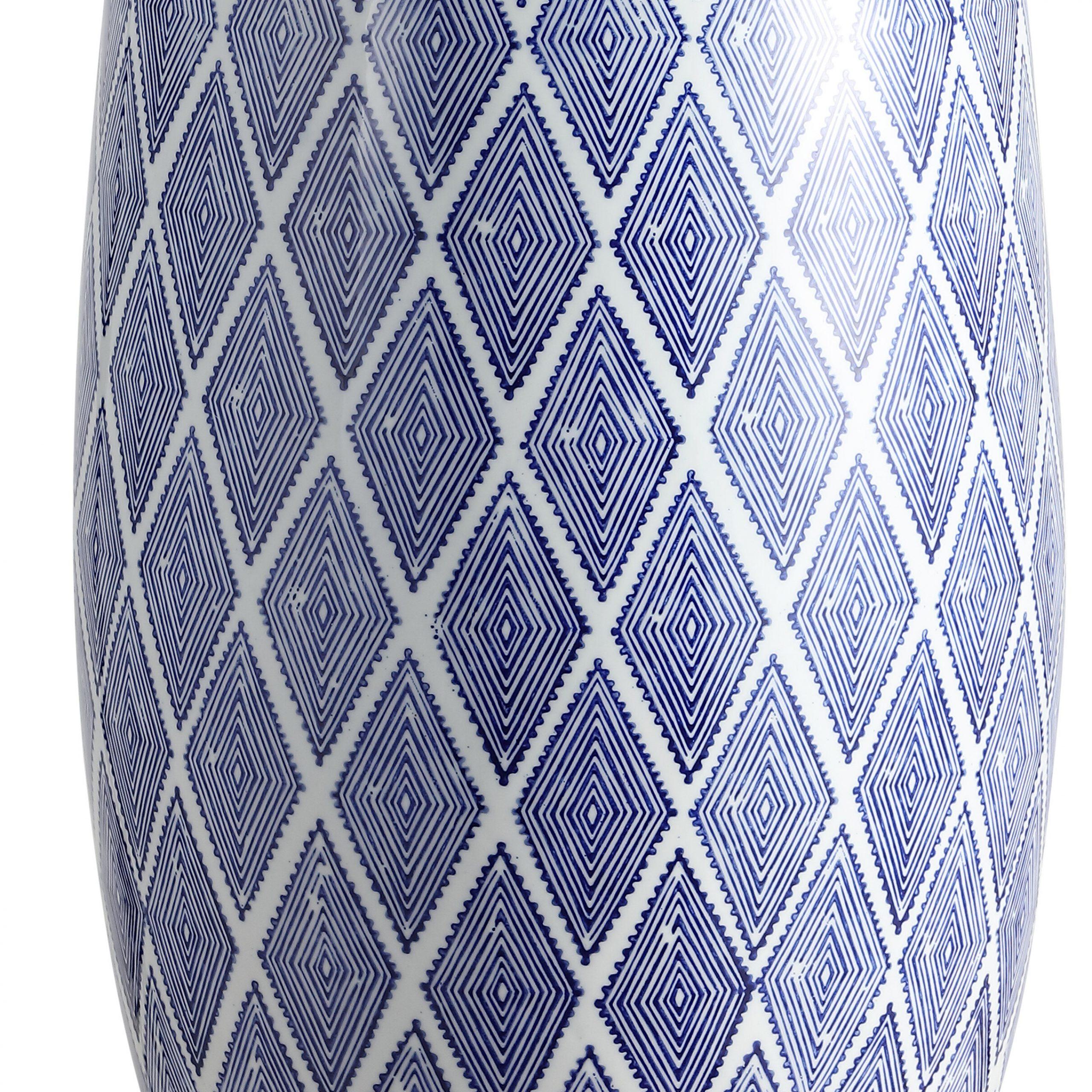 Ernst Diamonds Ceramic Drum Garden Stool Regarding Winterview Garden Stools (View 14 of 25)