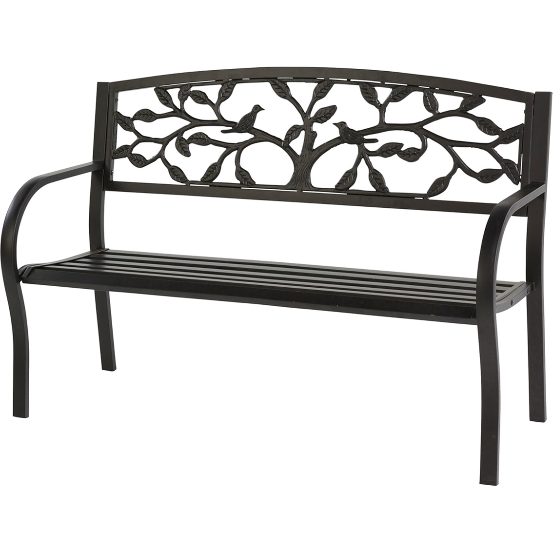 Evergreen Tree Of Life Metal Garden Bench | Benches | Patio With Tree Of Life Iron Garden Benches (View 6 of 25)