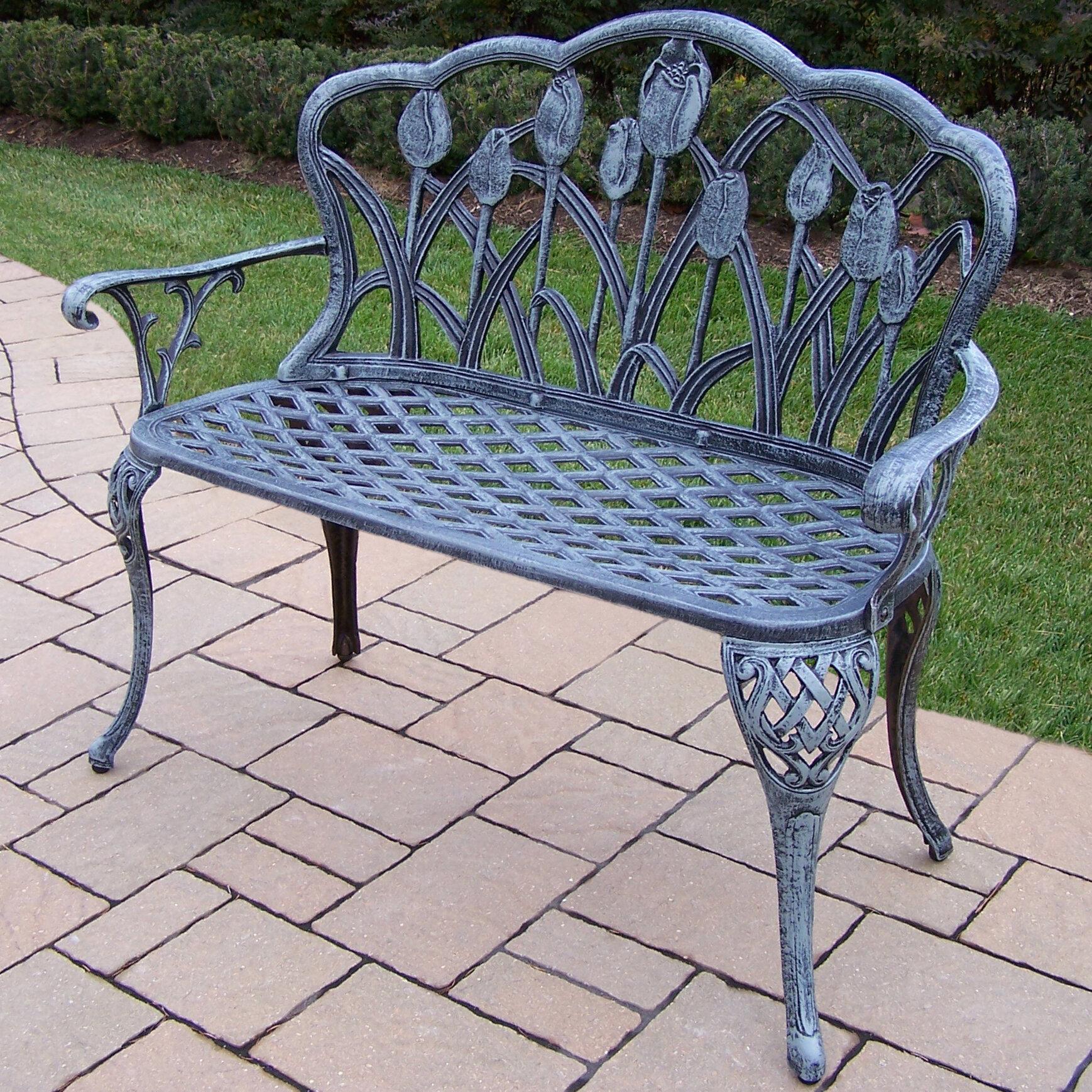 Farrior Aluminum Garden Bench With Regard To Montezuma Cast Aluminum Garden Benches (View 6 of 25)