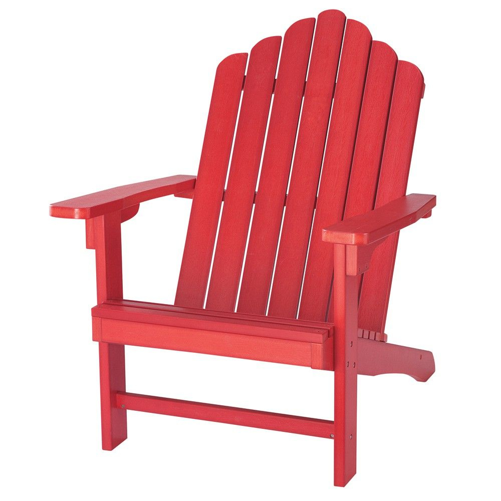Fauteuil Portland | Outdoor Chairs, Red, Adirondack Chair With Regard To Cavin Garden Benches (View 24 of 25)