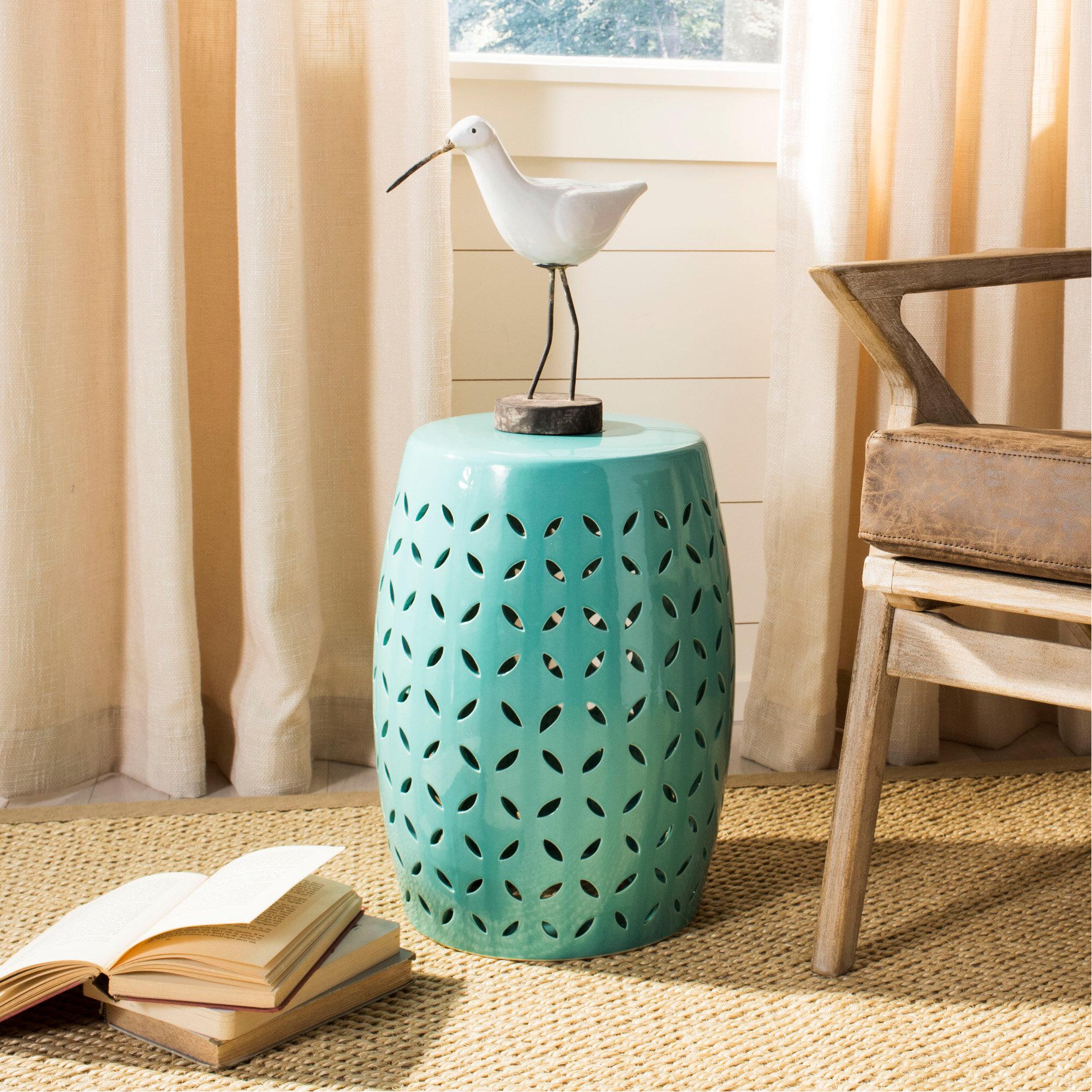 Feliciana Ceramic Garden Stool With Regard To Feliciana Ceramic Garden Stools (View 5 of 25)