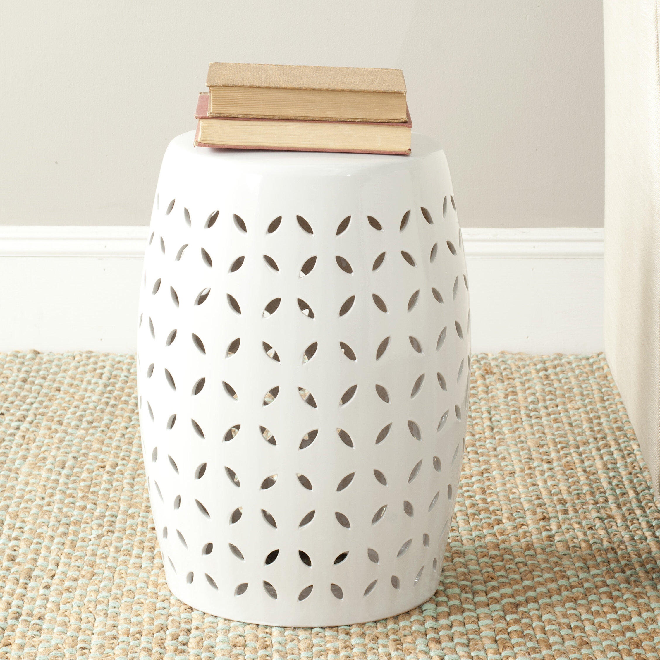 Feliciana Ceramic Garden Stool Within Amettes Garden Stools (View 12 of 25)