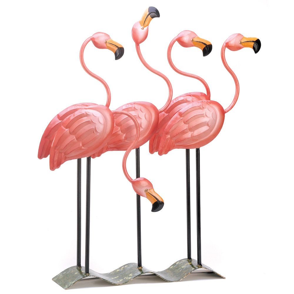 Flamingo Yard Art, Yard And Garden Decorations, Unique Metal Pink Flamingos  Yard (Soldcase, Pack Of 4) – Walmart With Flamingo Metal Garden Benches (View 15 of 25)