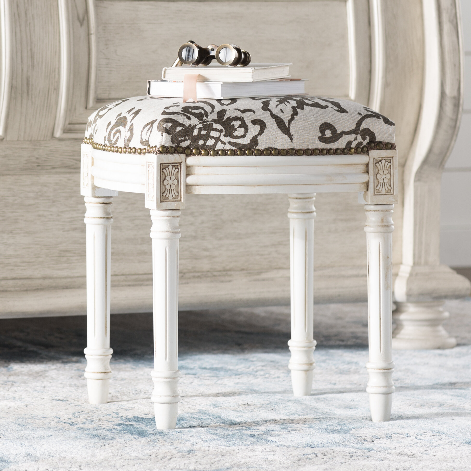 Floral Accent Stools You'Ll Love In 2020 | Wayfair Inside Irwin Blossom Garden Stools (View 23 of 25)