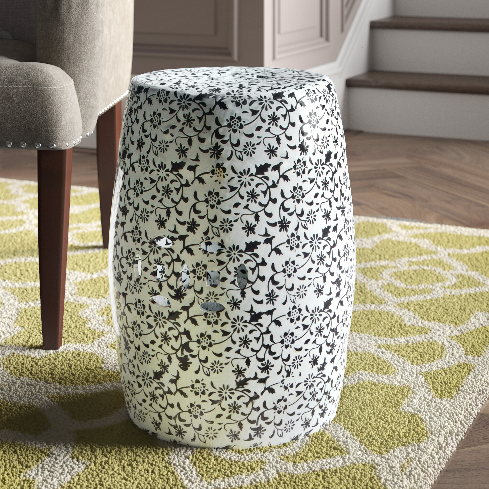 Floral Accent Stools You'Ll Love In 2020 | Wayfair Within Glendale Heights Birds And Butterflies Garden Stools (View 14 of 25)