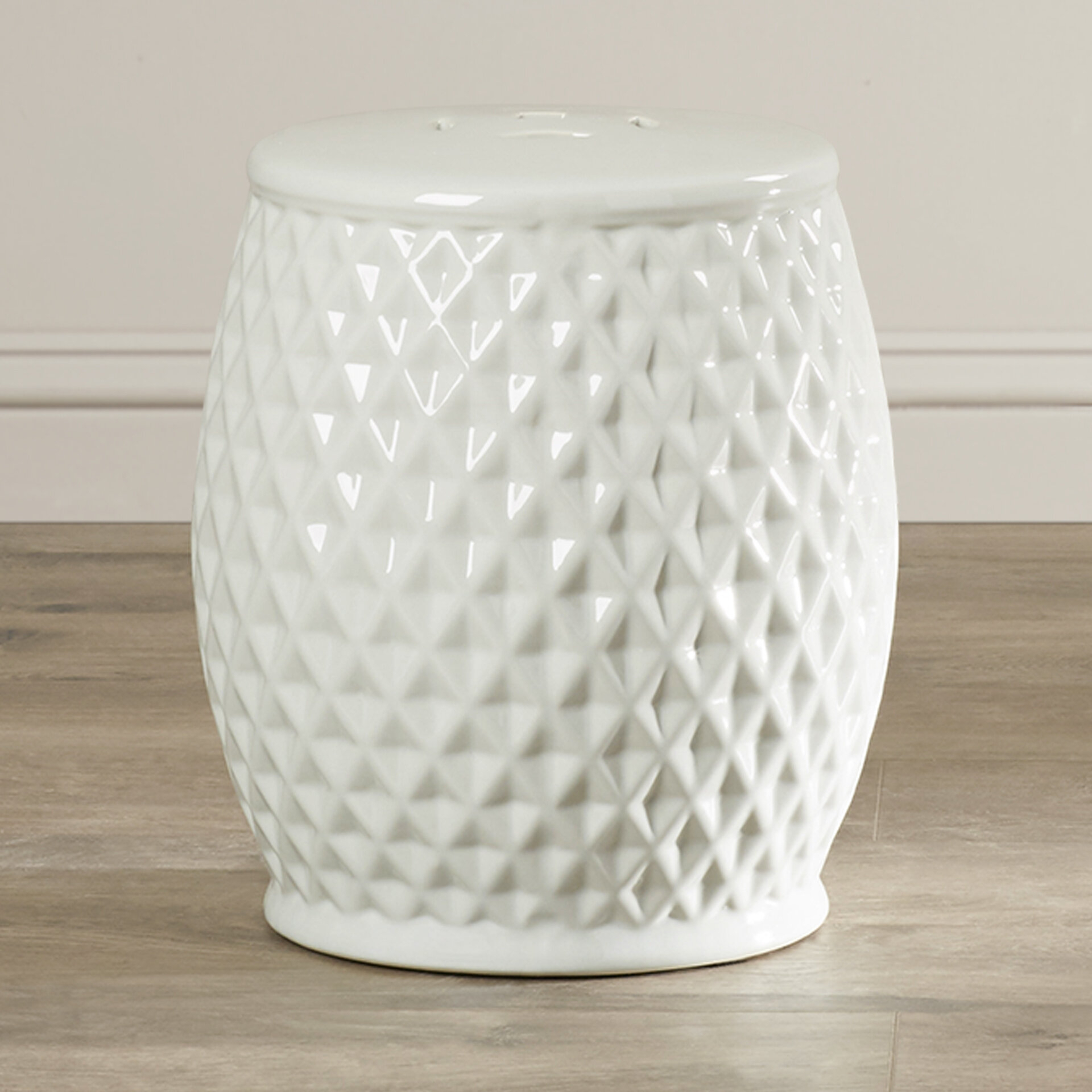 Fonzworth Harlequin Ceramic Garden Stool Throughout Karlov Ceramic Garden Stools (View 11 of 25)