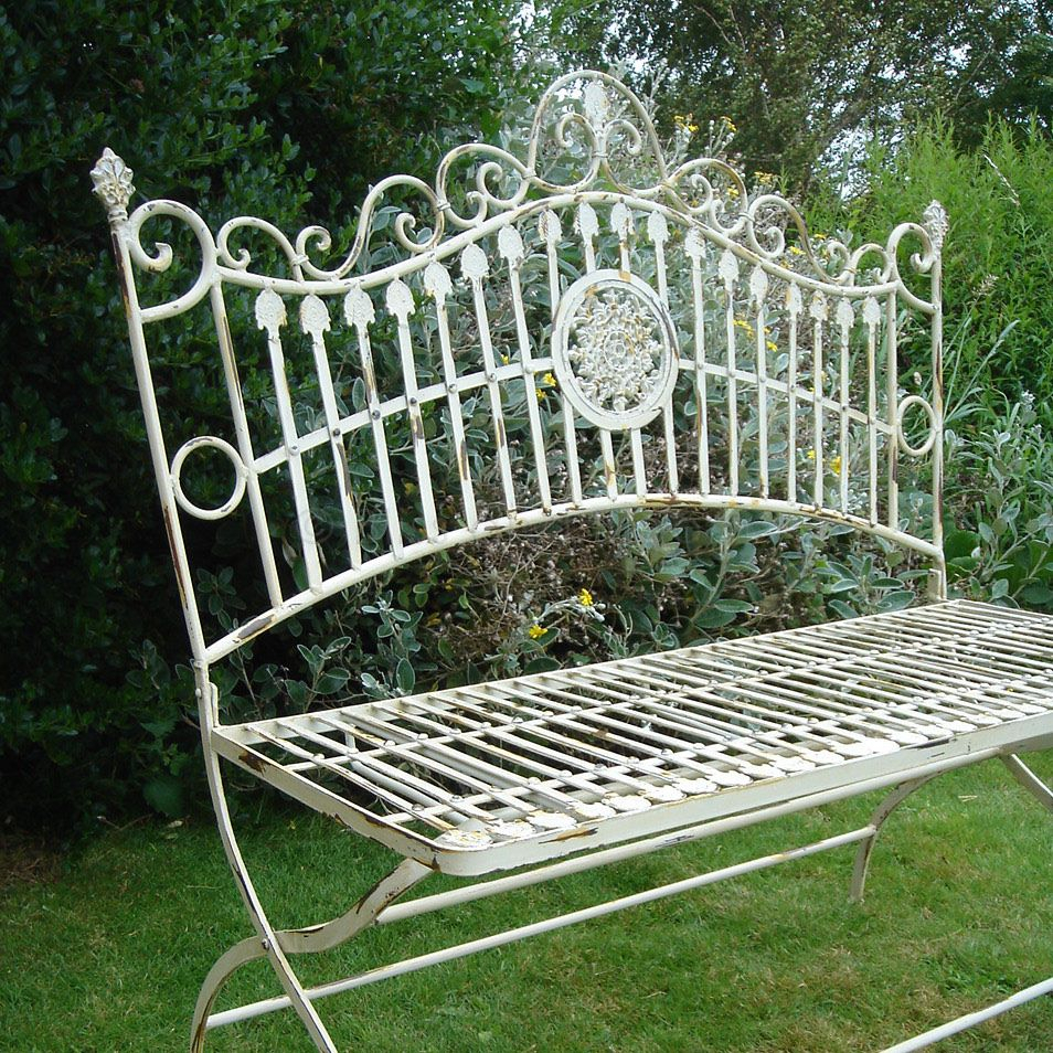 French Style Garden Bench | Bliss And Bloom Throughout Blooming Iron Garden Benches (View 16 of 25)