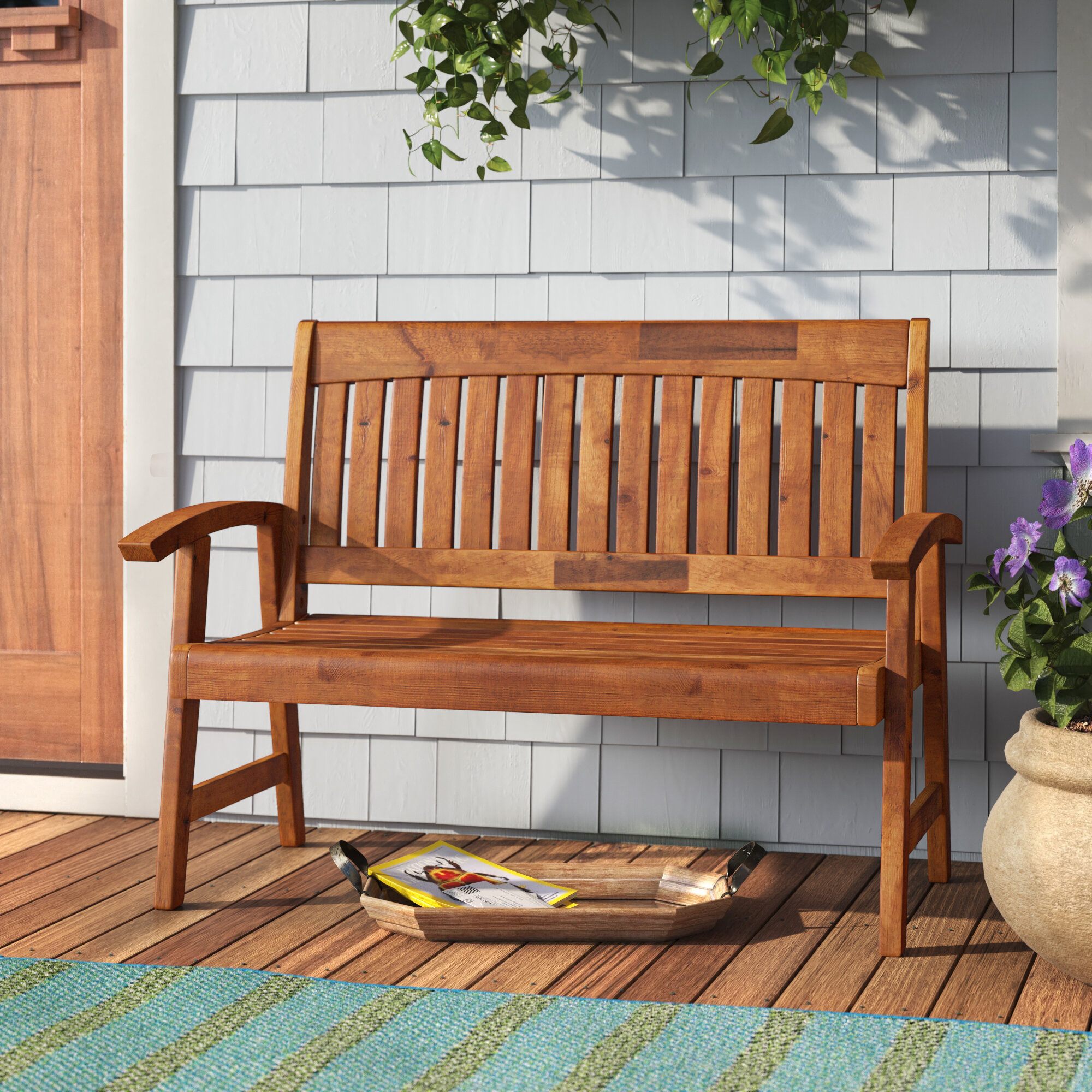 Gabbert Wooden Garden Bench For Gabbert Wooden Garden Benches (View 2 of 25)