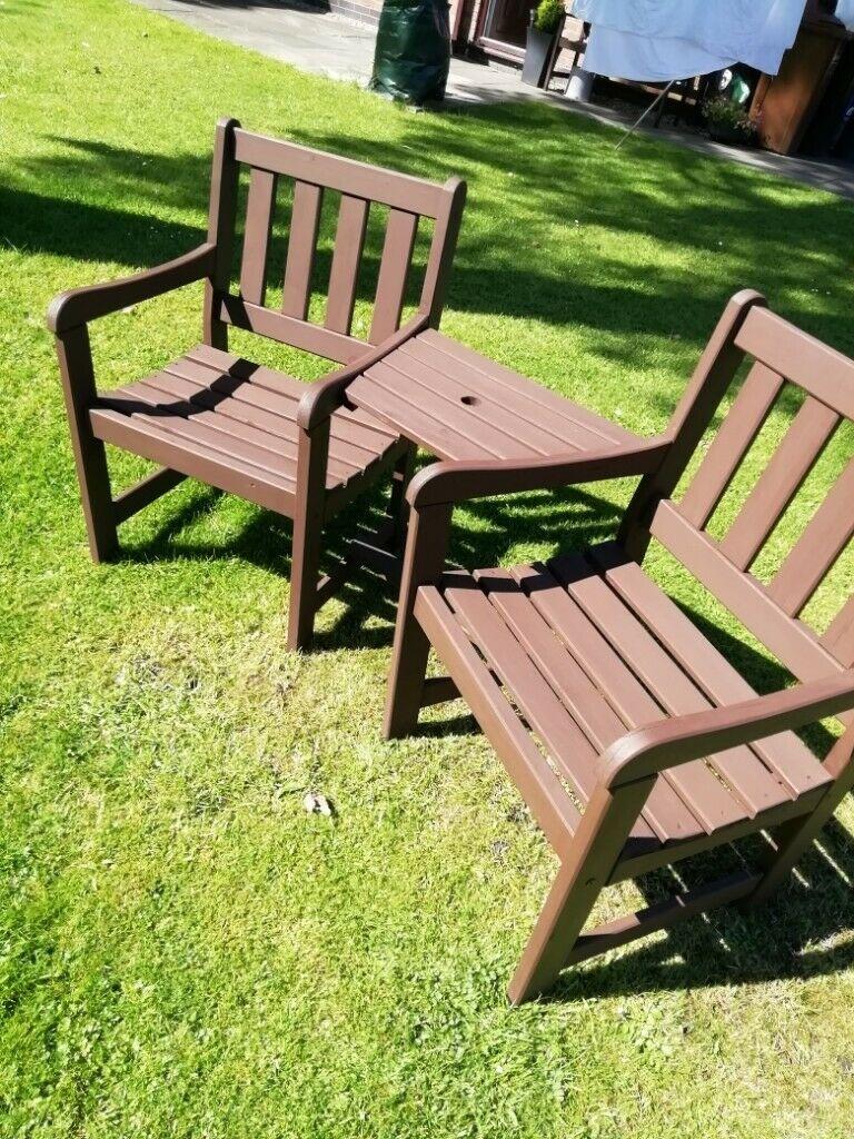 Garden Campanion Seat/Bench | In Stockport, Manchester | Gumtree Throughout Manchester Wooden Garden Benches (View 20 of 25)