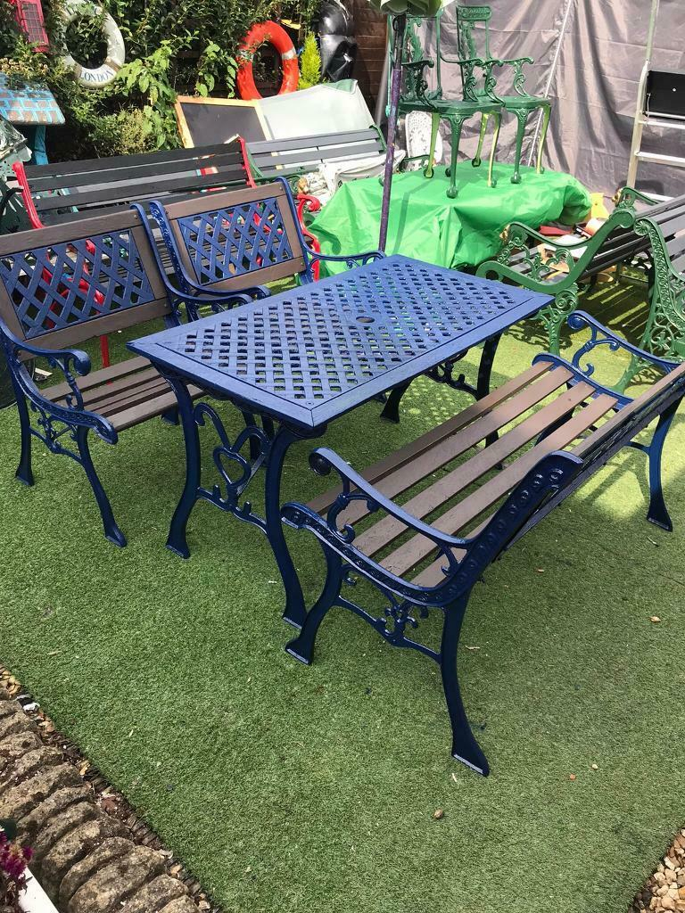 Garden Set | In Southampton, Hampshire | Gumtree Pertaining To Michelle Metal Garden Benches (View 16 of 25)