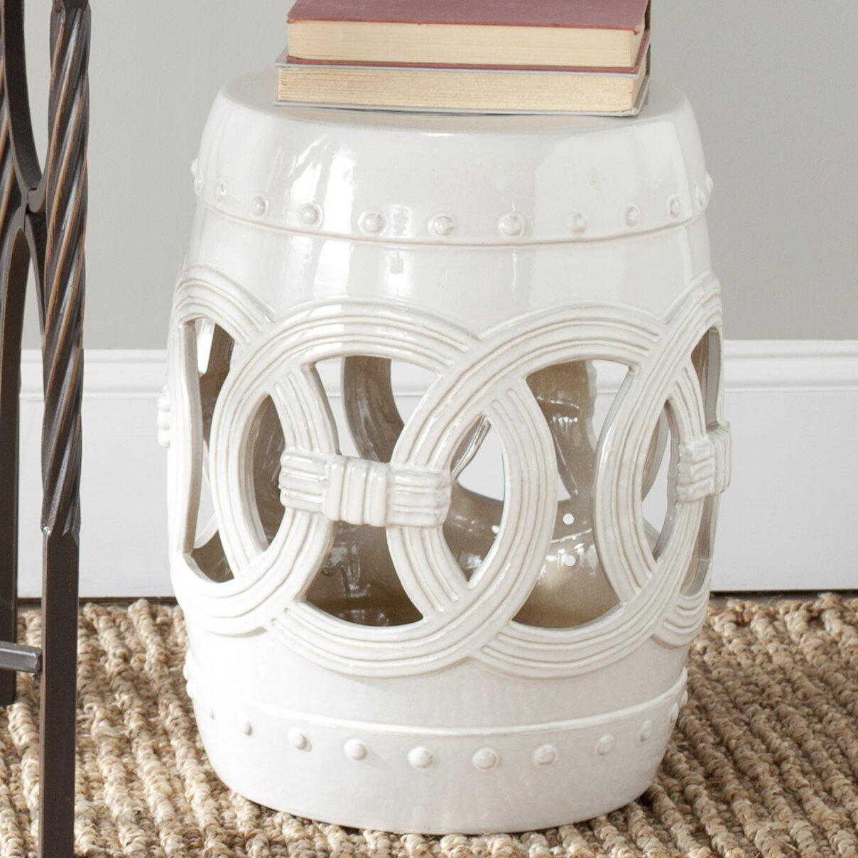 Garden White Accent Stools You'Ll Love In 2020 | Wayfair With Regard To Wiese Cherry Blossom Ceramic Garden Stools (View 15 of 25)