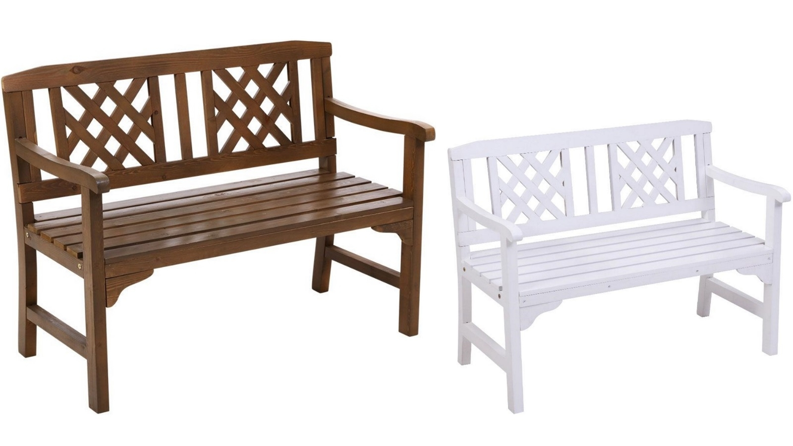 Gardeon 2 Seater Wooden Garden Bench Seat Within Manchester Solid Wood Garden Benches (View 7 of 25)