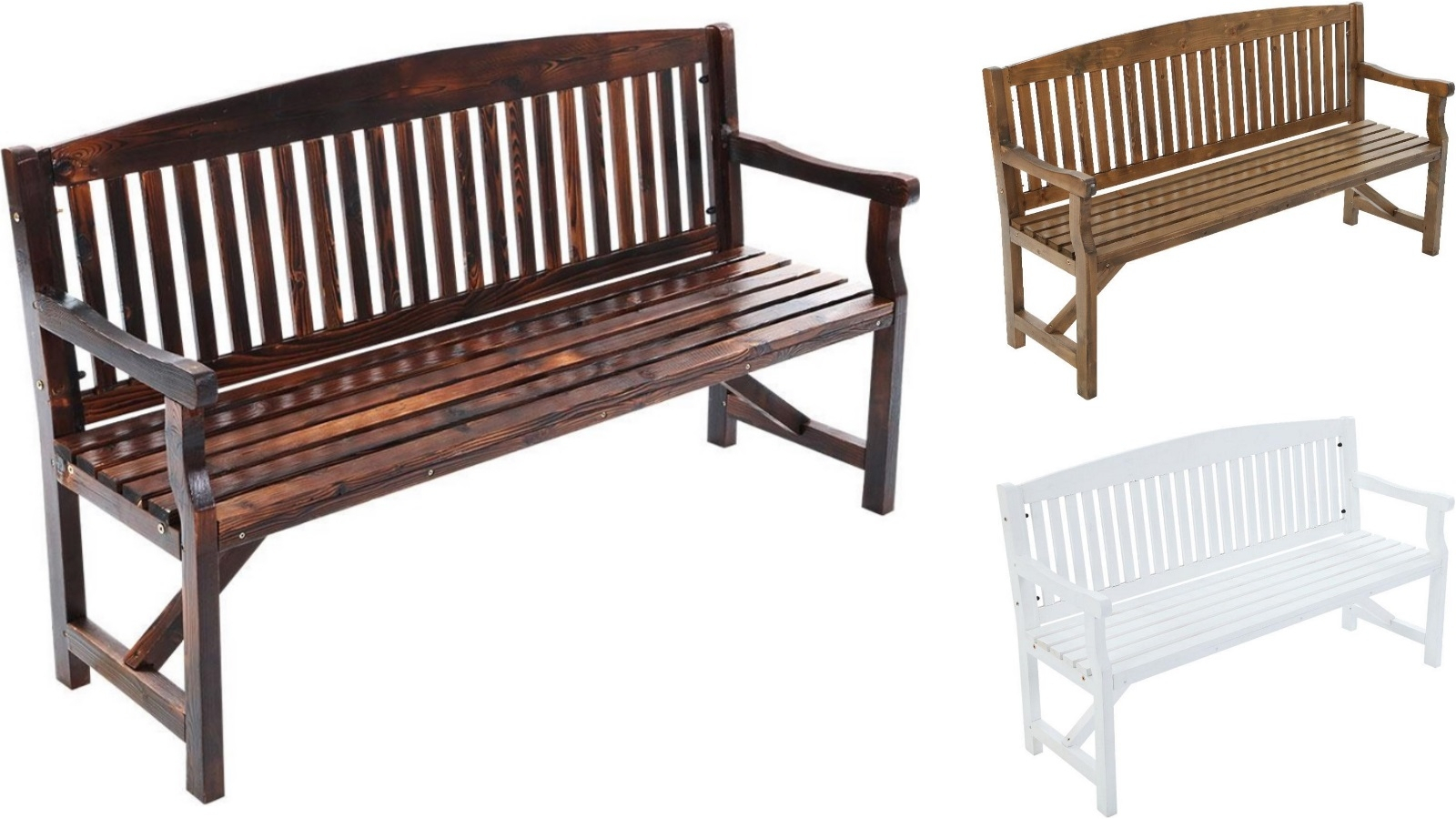 Gardeon 3 Seater Wooden Garden Bench Chair With Regard To Manchester Wooden Garden Benches (View 8 of 25)