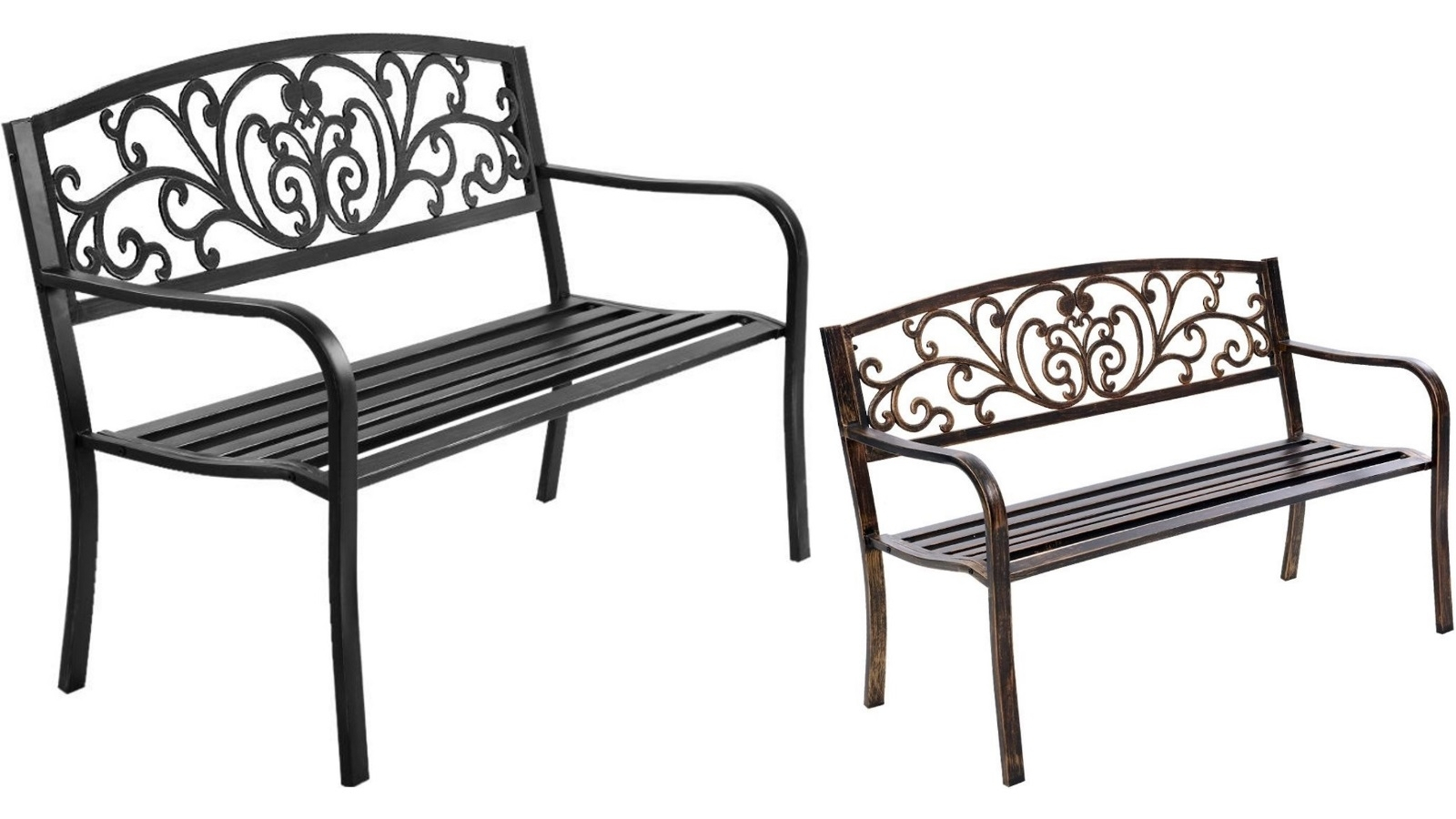 Gardeon Cast Iron Garden Bench With Regard To Manchester Solid Wood Garden Benches (View 16 of 25)