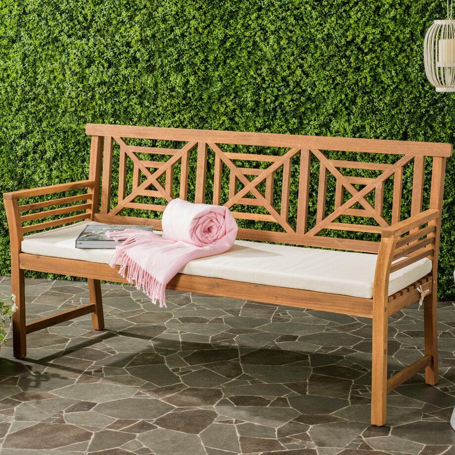Garrity Wooden Garden Bench With Regard To Avoca Wood Garden Benches (View 13 of 25)