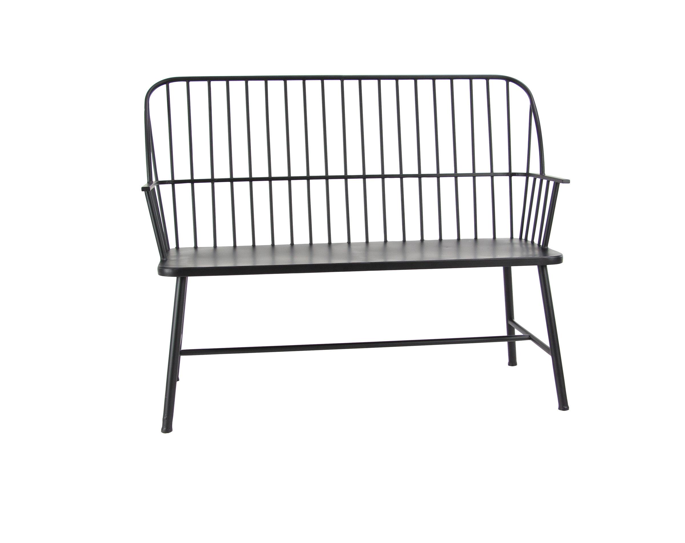 Gehlert Traditional Patio Iron Garden Bench Regarding Michelle Metal Garden Benches (View 13 of 25)