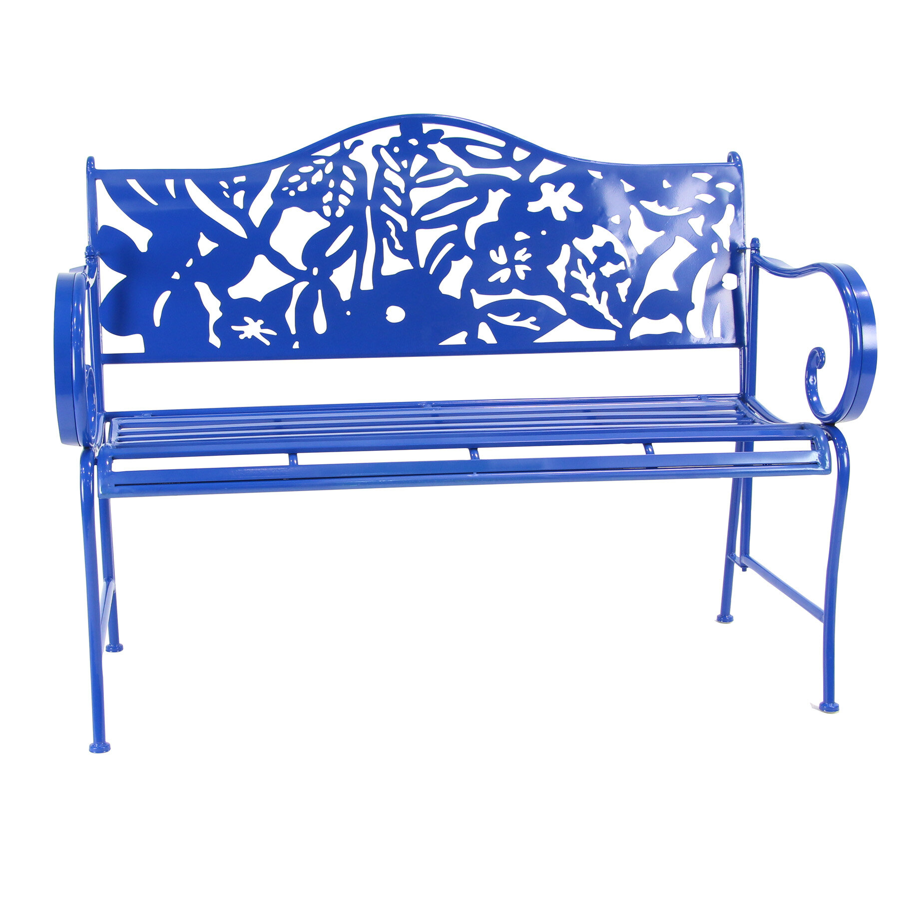 Ginter Iron Garden Bench Pertaining To Caryn Colored Butterflies Metal Garden Benches (View 9 of 25)