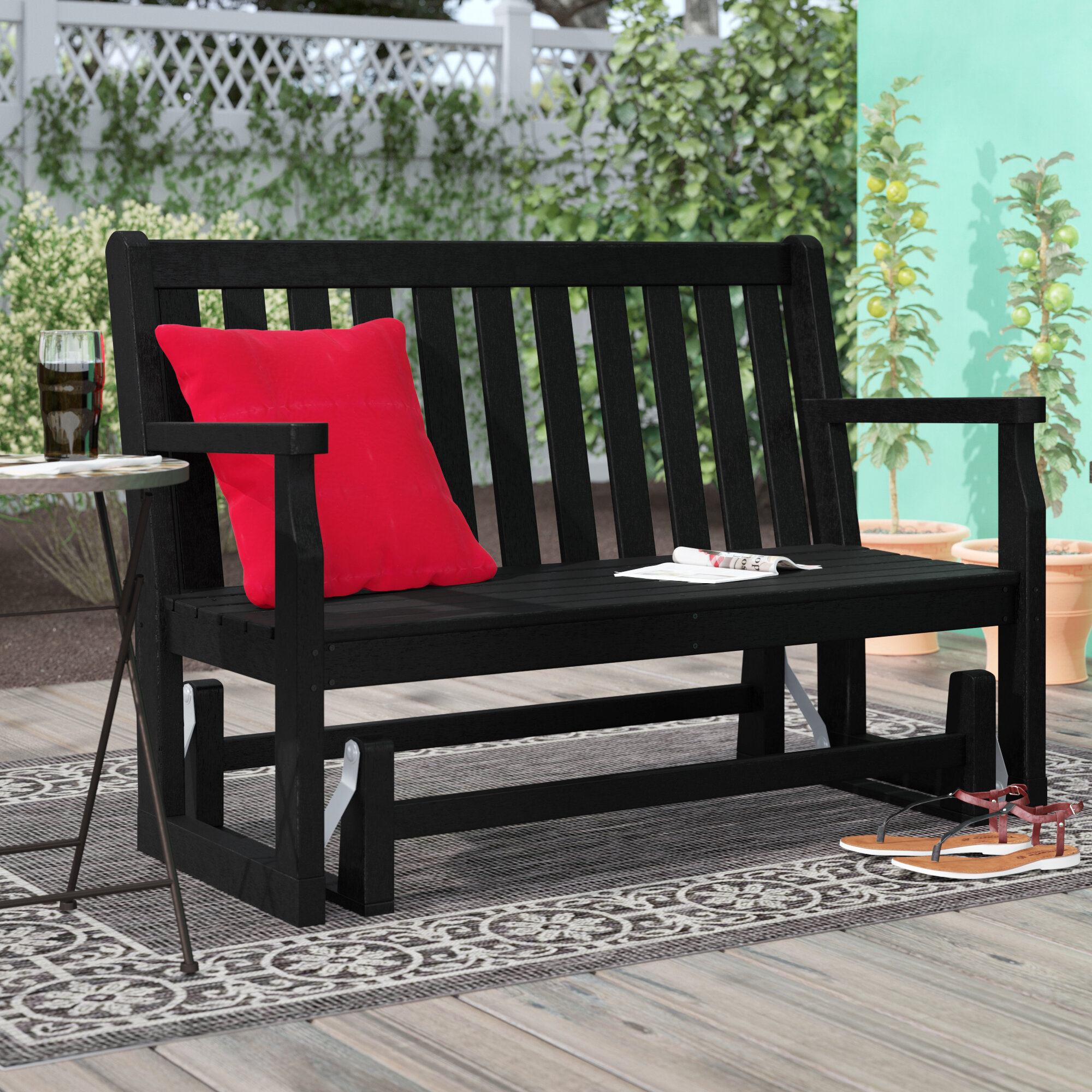 Glider Outdoor Benches You'Ll Love In 2020 | Wayfair Within Sibbi Glider Benches (View 4 of 25)
